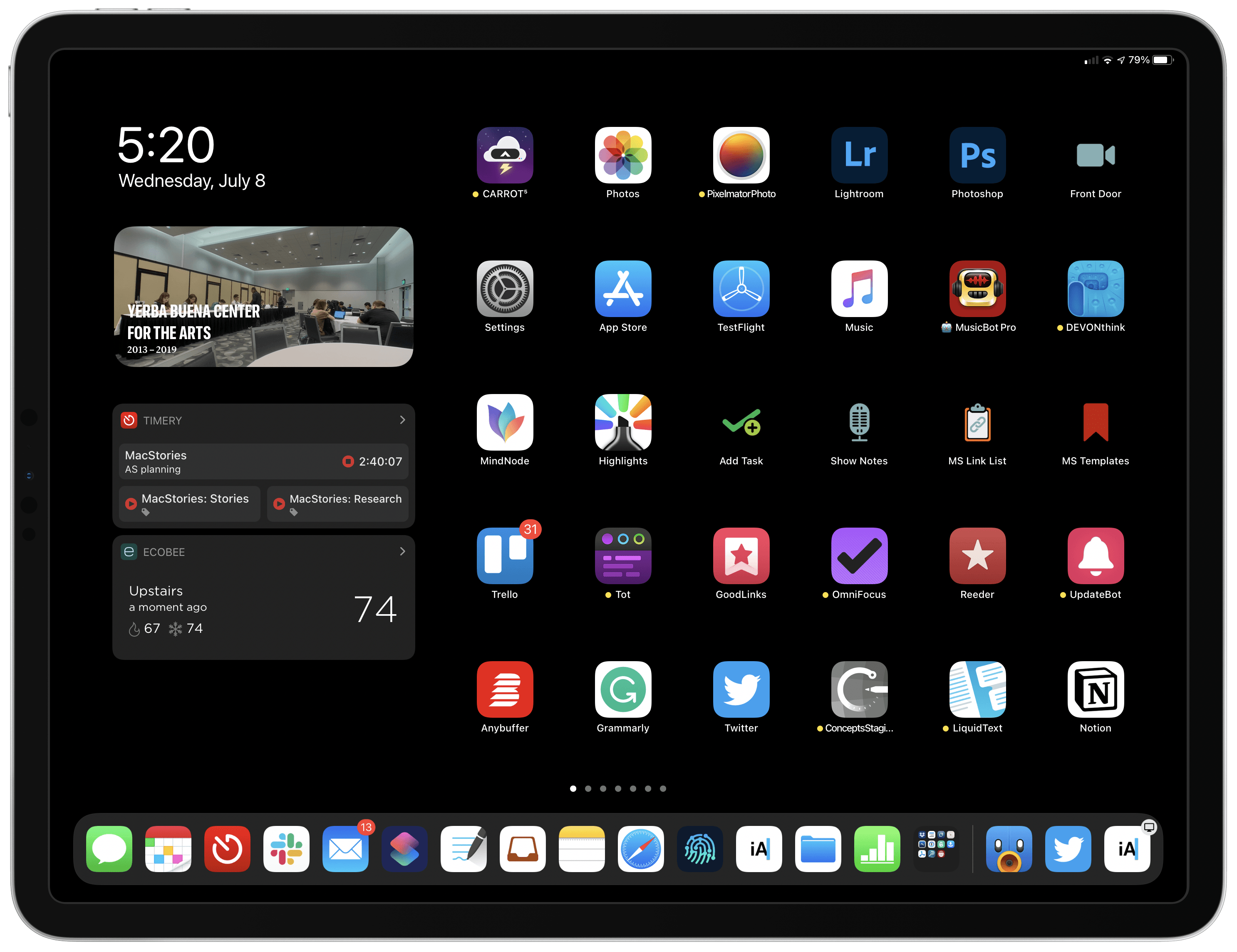 Relegating widgets to the iPad's Today view has limited their utility.