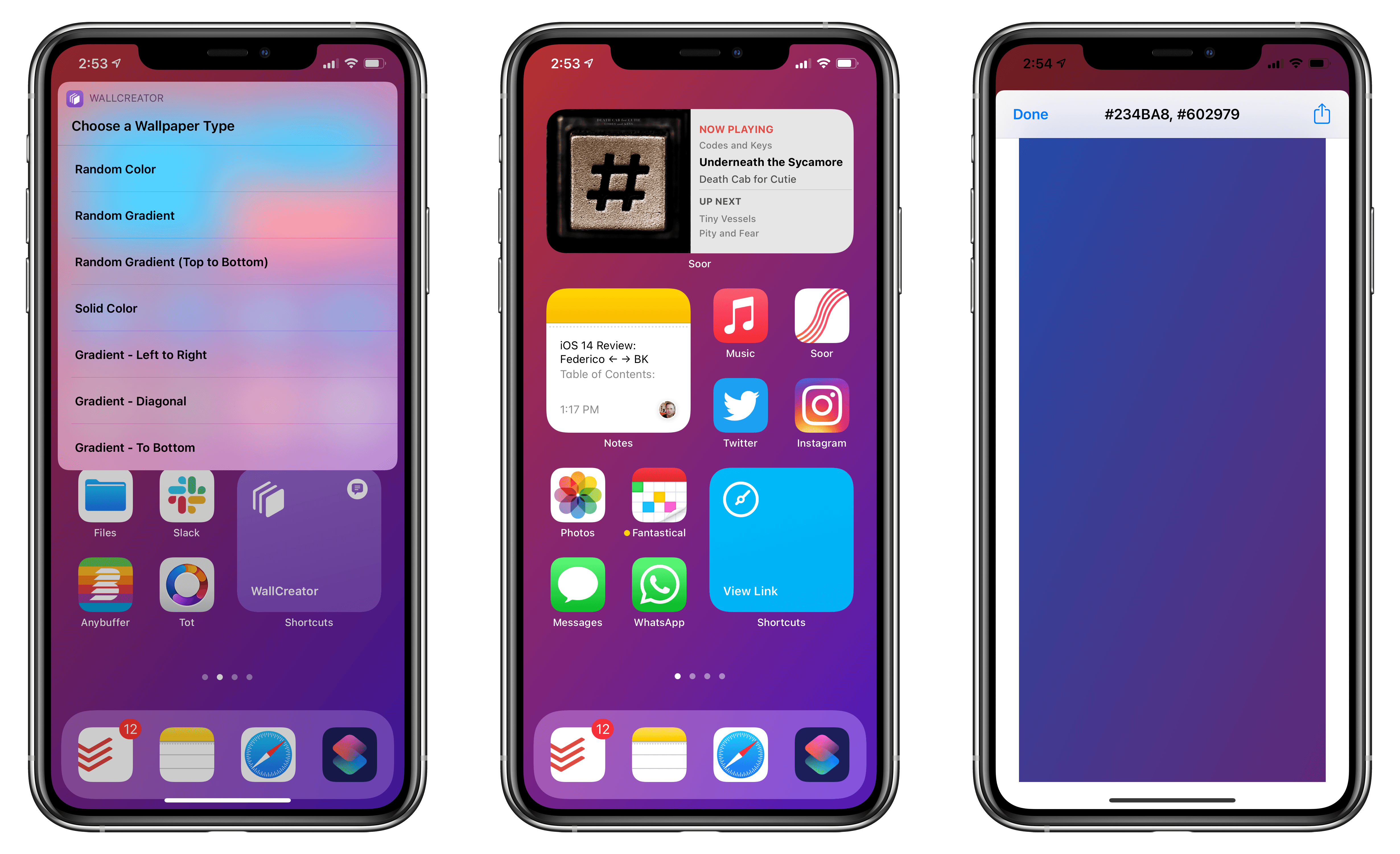 Introducing Wallcreator A Shortcut To Create Iphone And Ipad Wallpapers With Solid Colors And Gradients Macstories