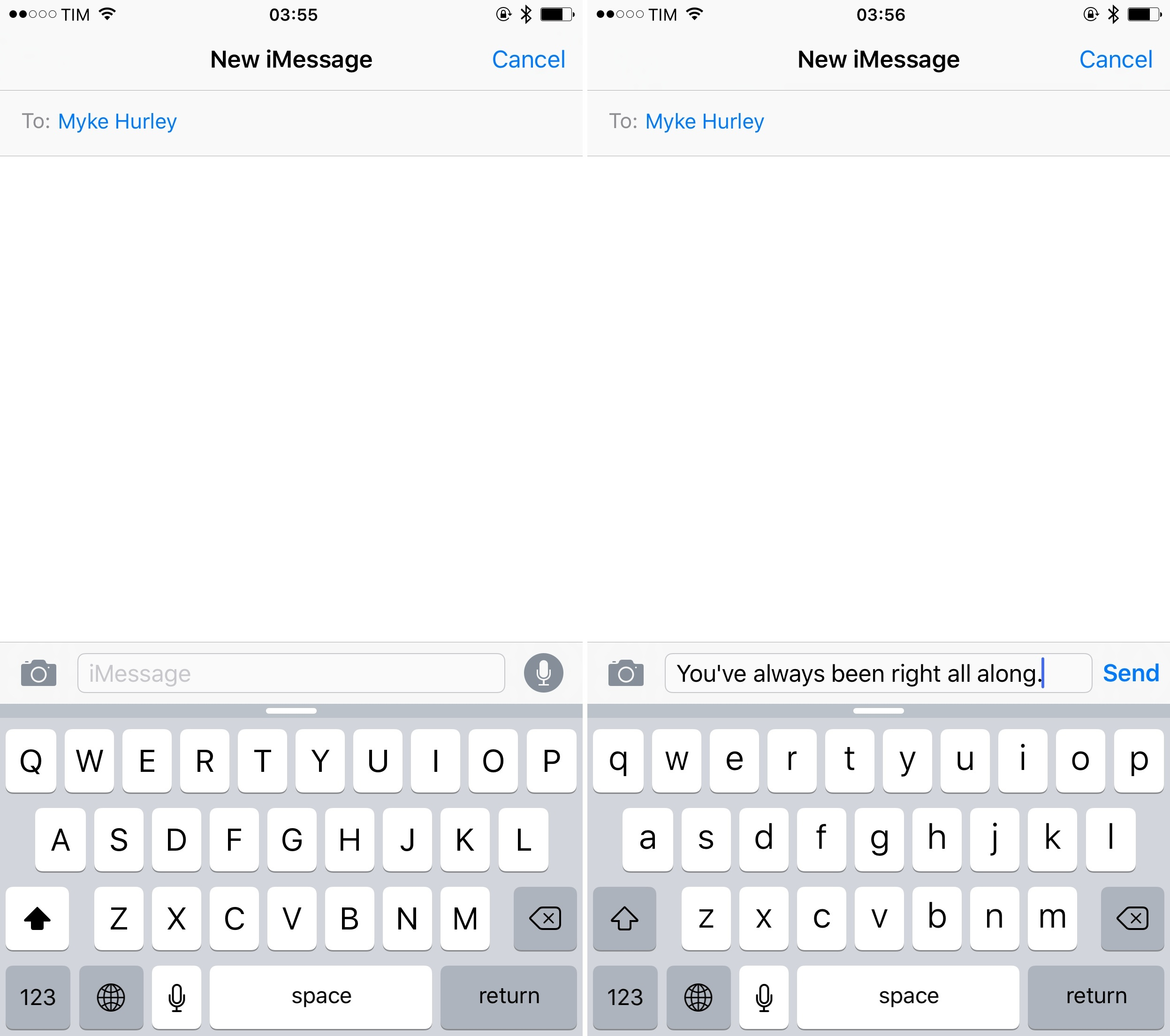 The new Shift key design in iOS 9.
