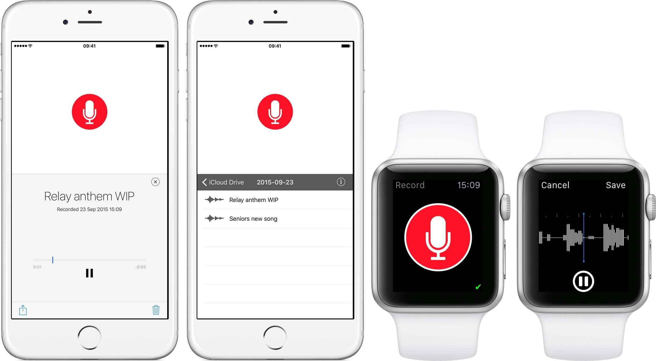 Just Press Record Is a Simple Voice Recorder for watchOS 2