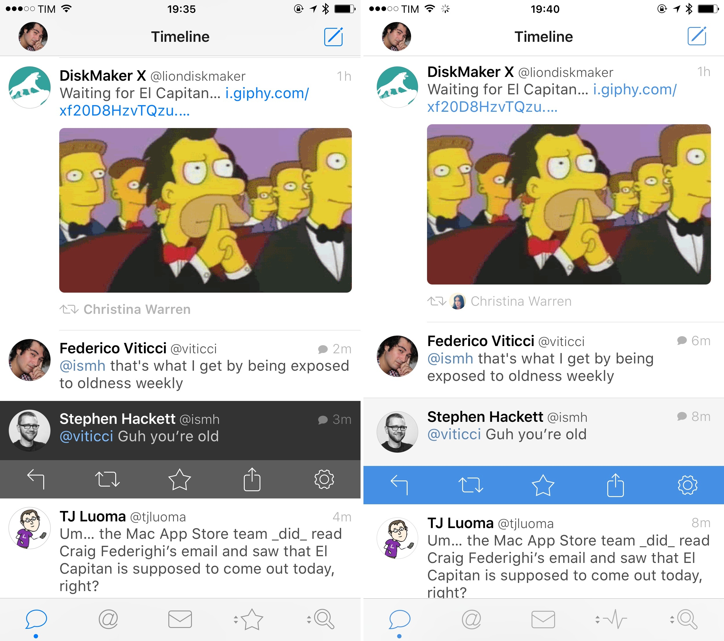 Left: Tweetbot 3.