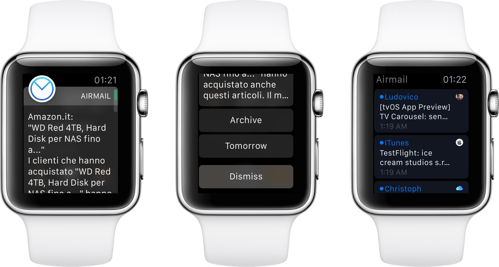 Airmail on Apple Watch.