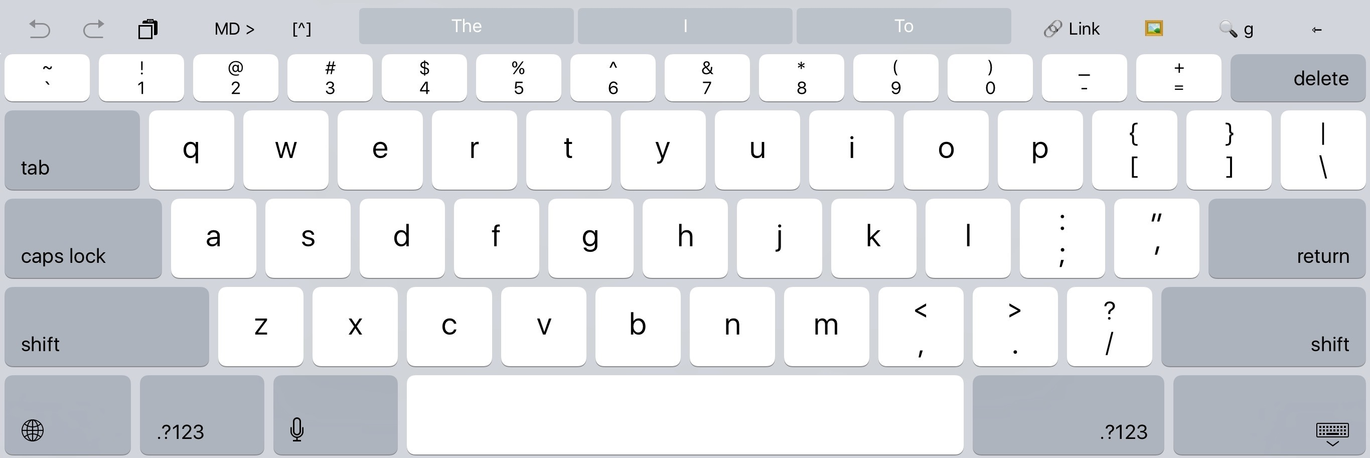 My Shortcut Bar in Drafts. Those custom keys stay visible in Split View.