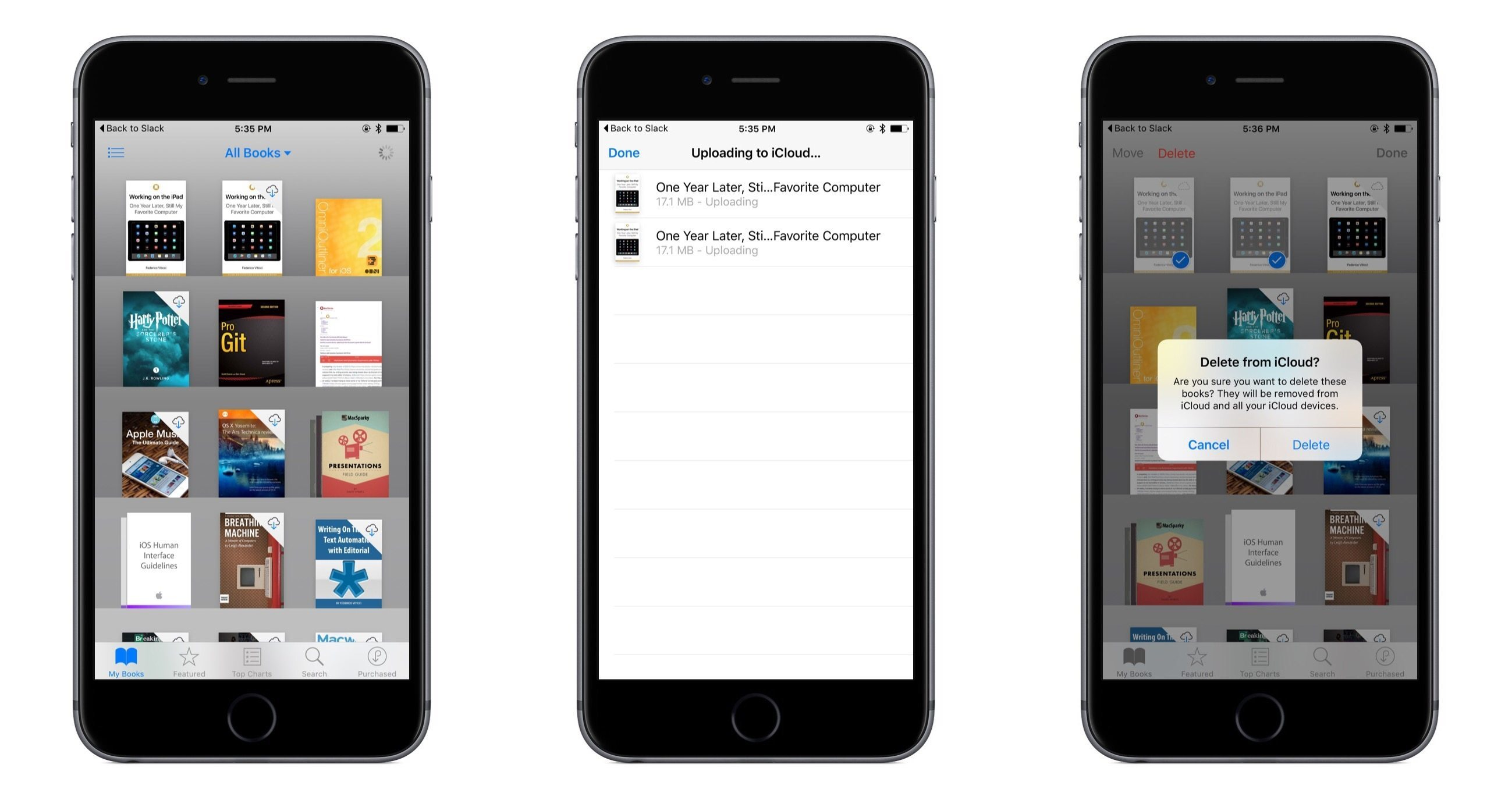 Syncing EPUBs in iBooks with iCloud.