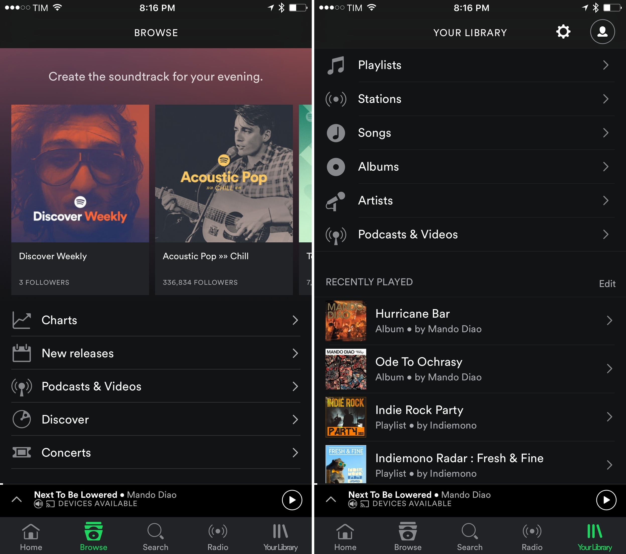 Spotify Brings Back The Tab Bar On IOS