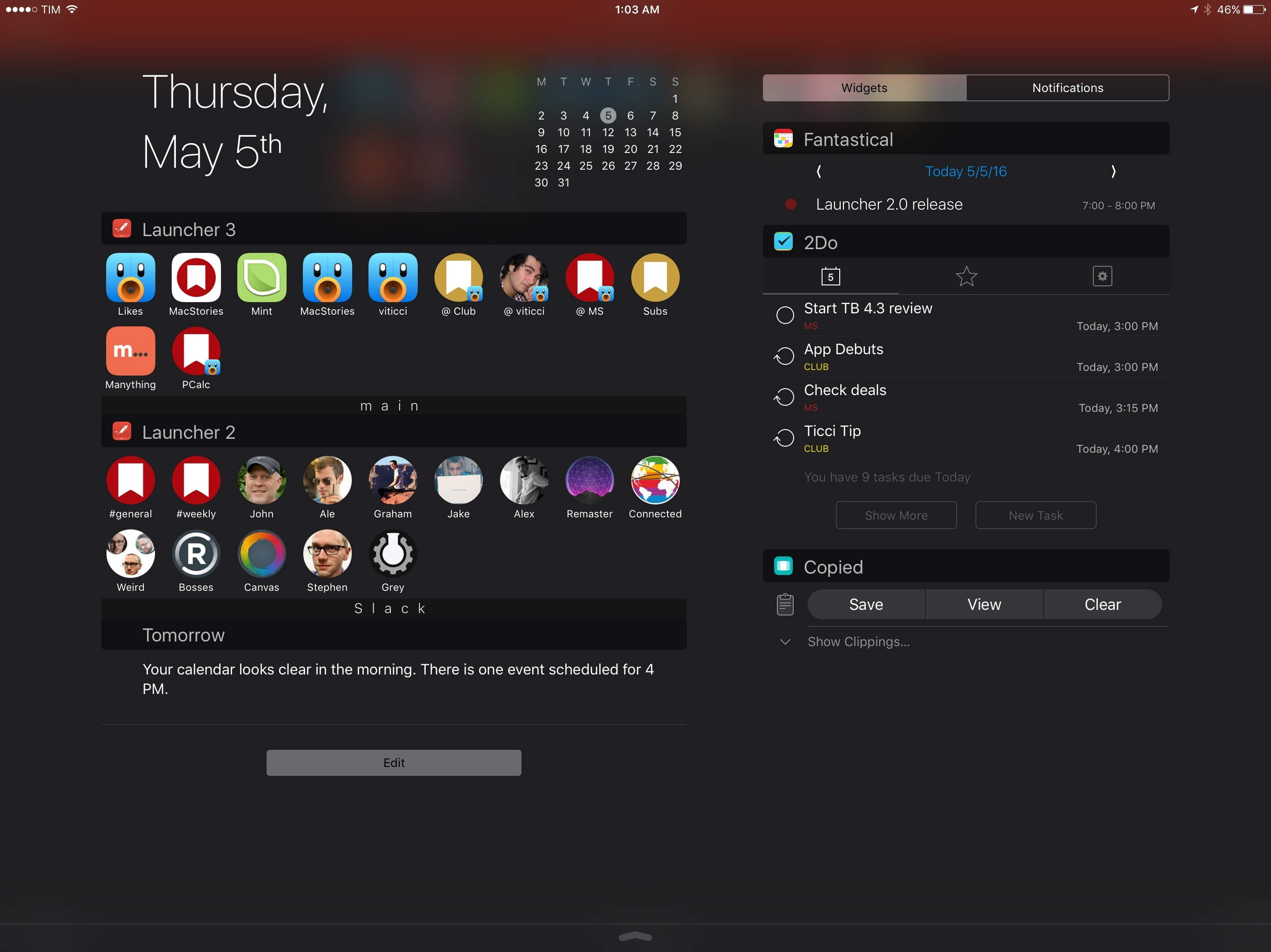 With launcher 2 0 i m rethinking my notification center widgets