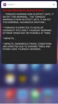 <p>Expanded severe weather alert notification.</p>