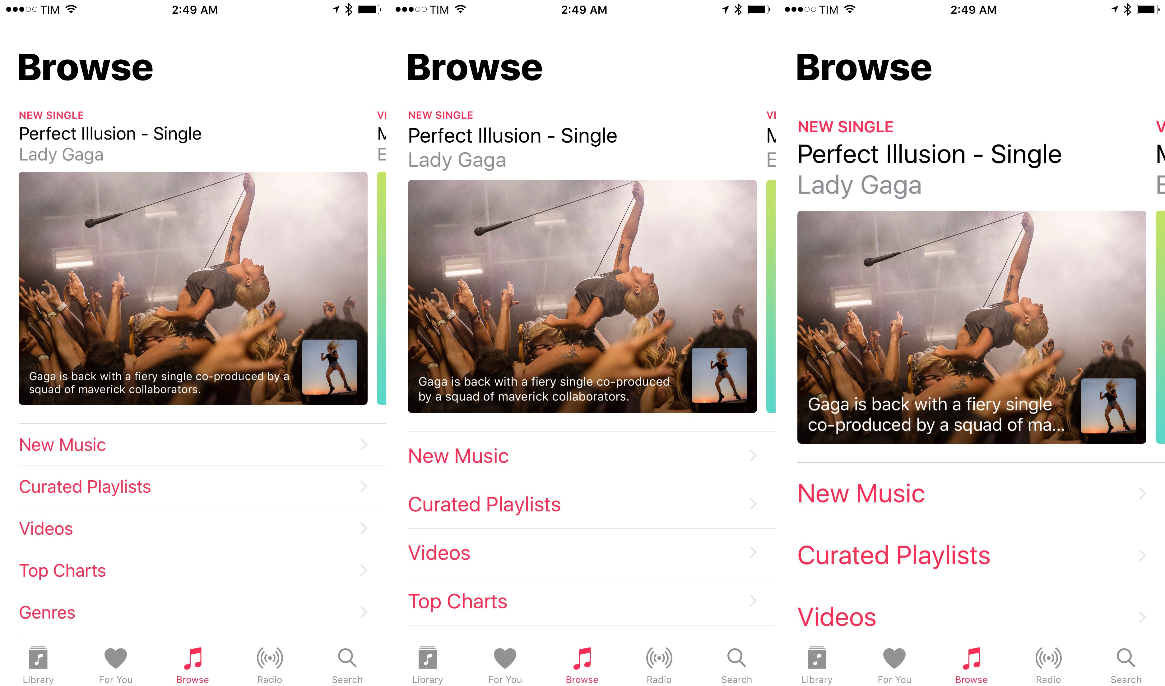 Dynamic Text and Apple Music's new design.