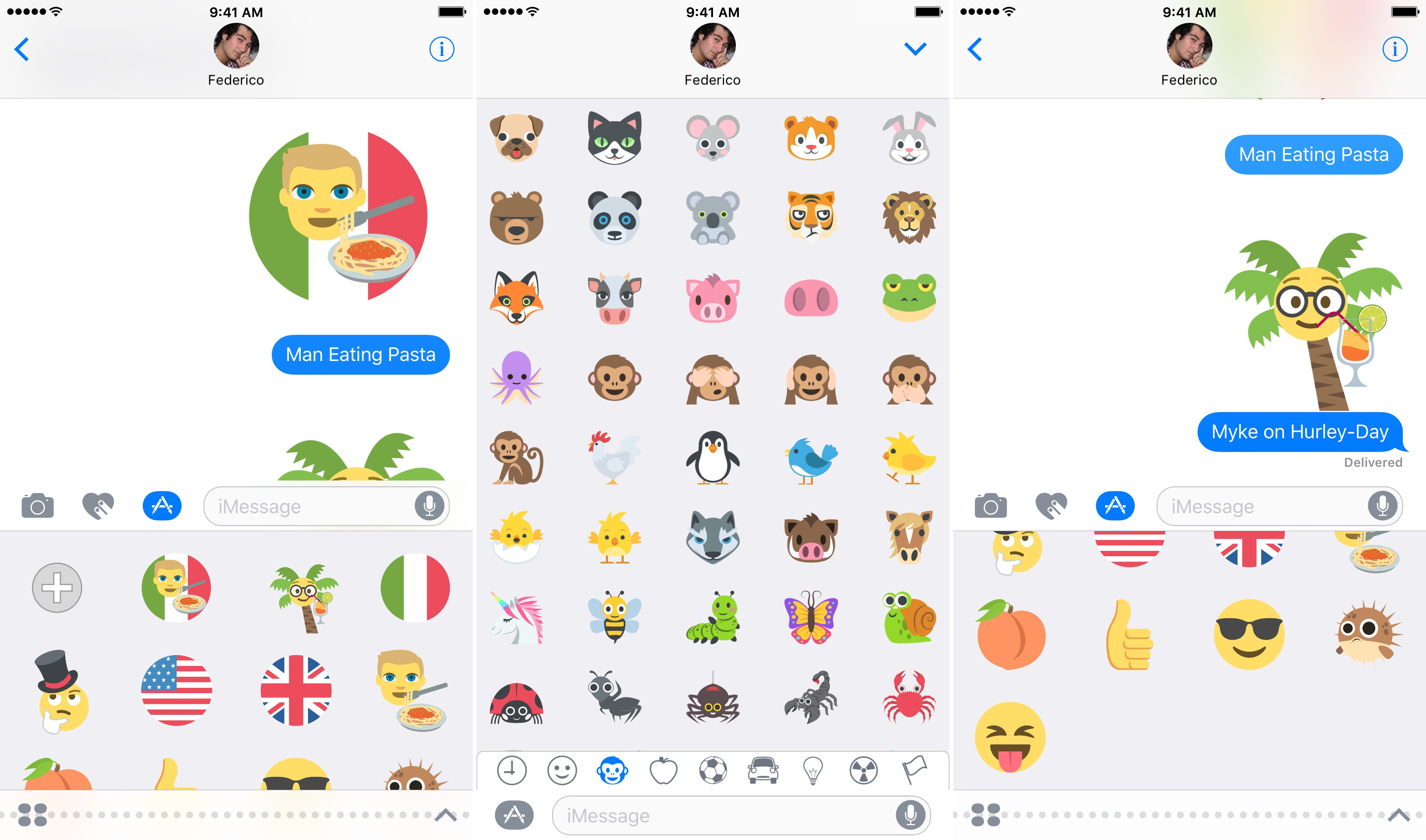You can create your own emoji-style stickers with Emoji Stickers by combining multiple emoji.