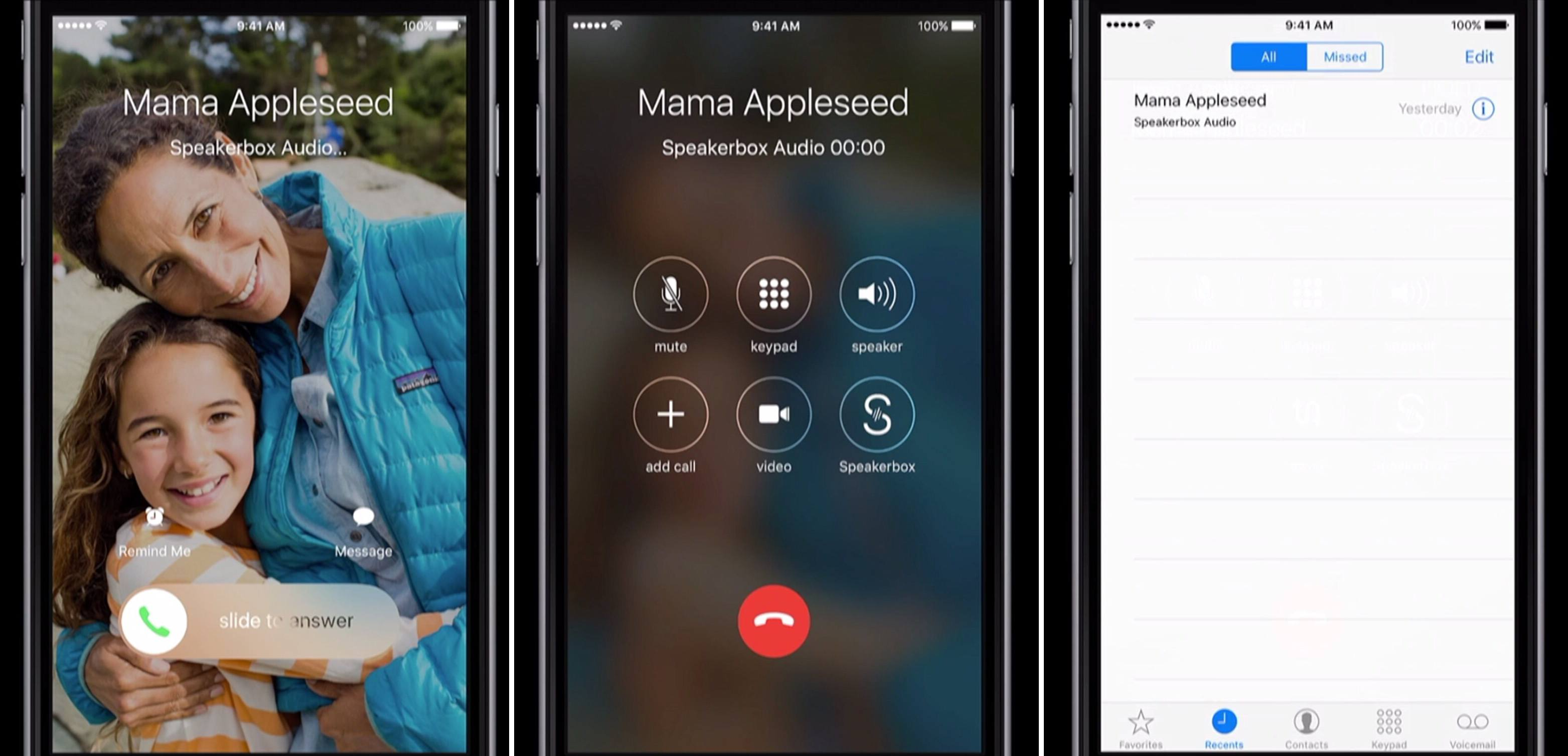 A demo CallKit app on iOS 10.