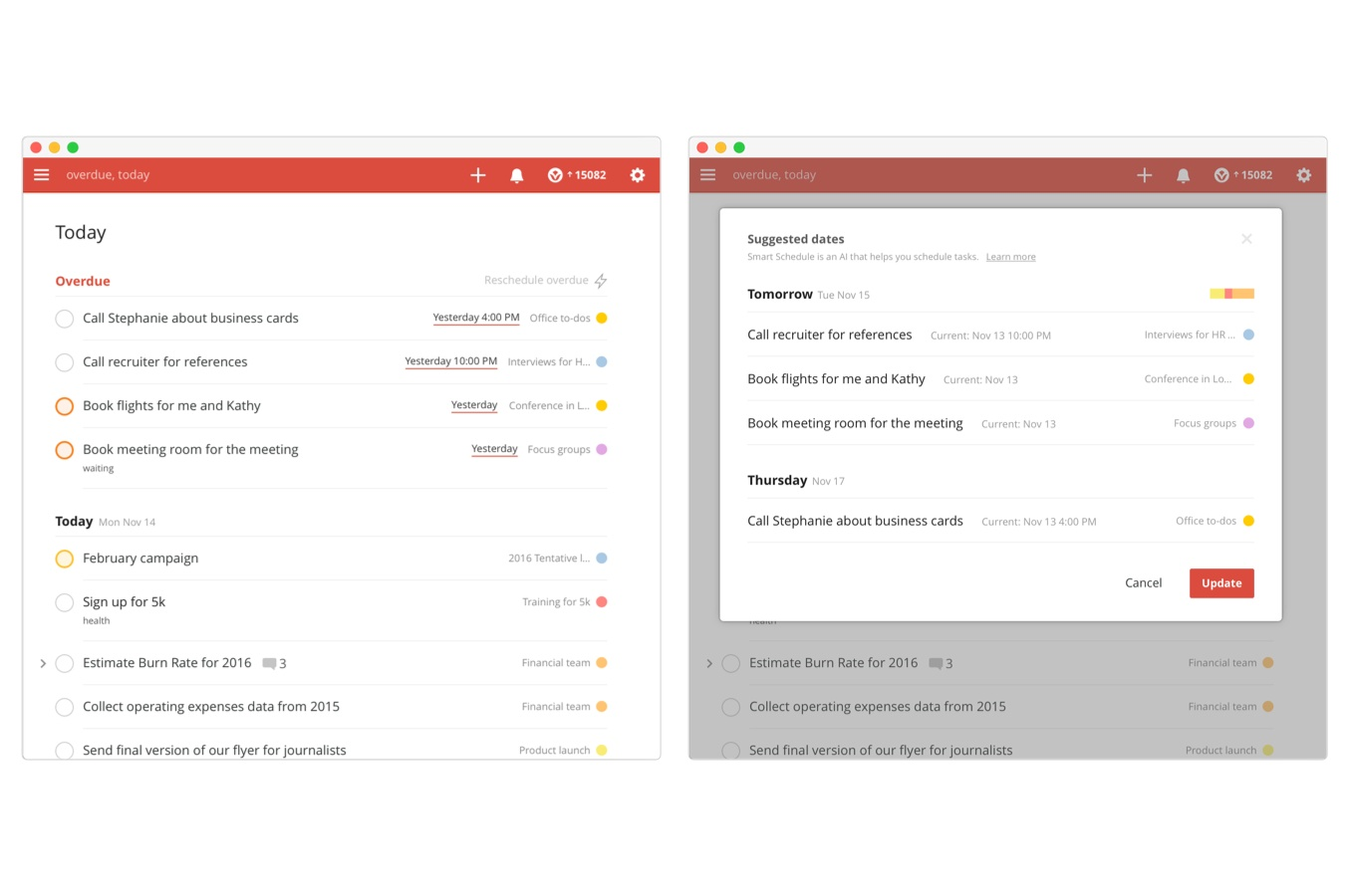Todoist Launches Smart Schedule, an AI-Based Feature to Reschedule