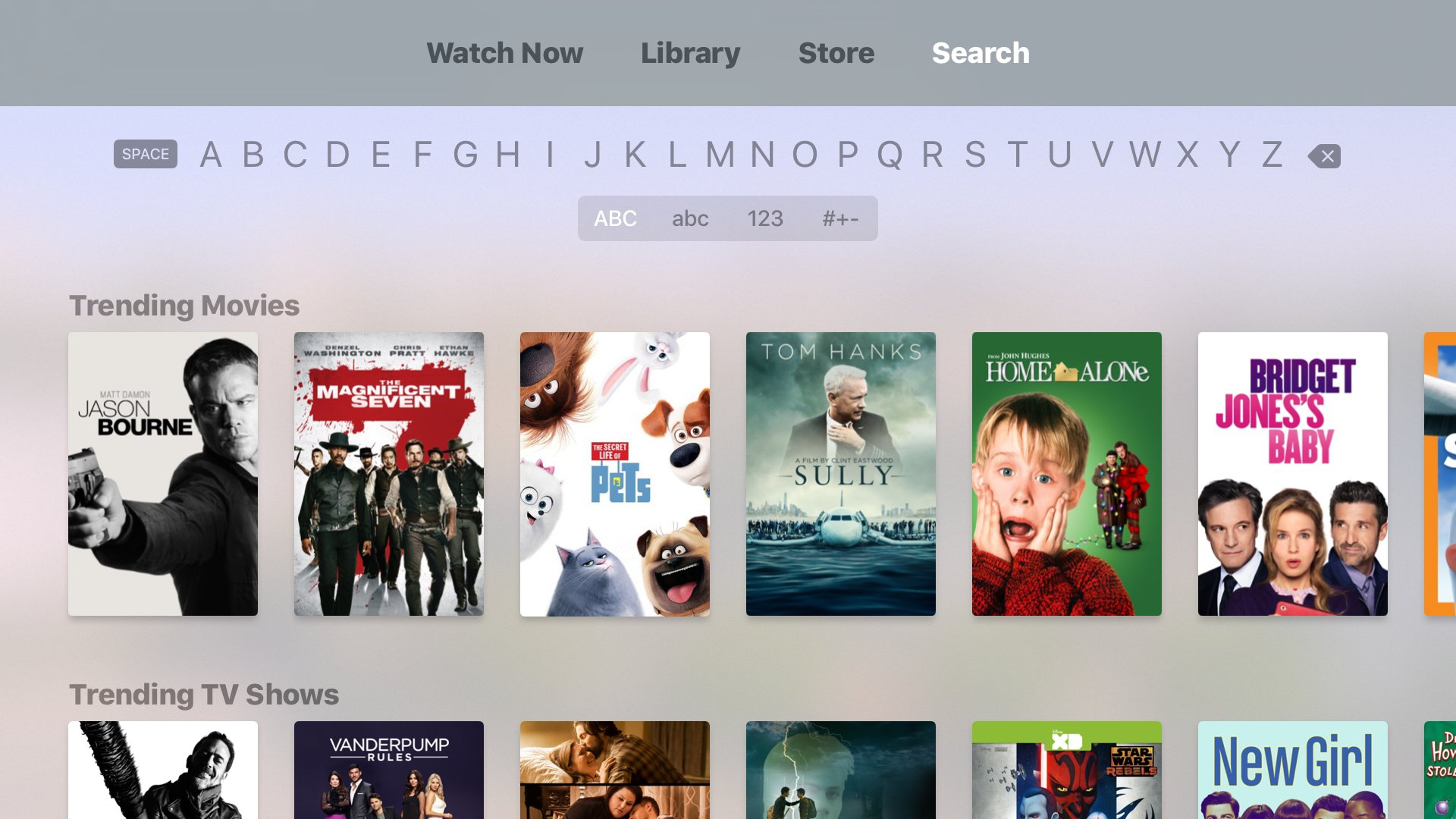 <p>Search on tvOS</p>
