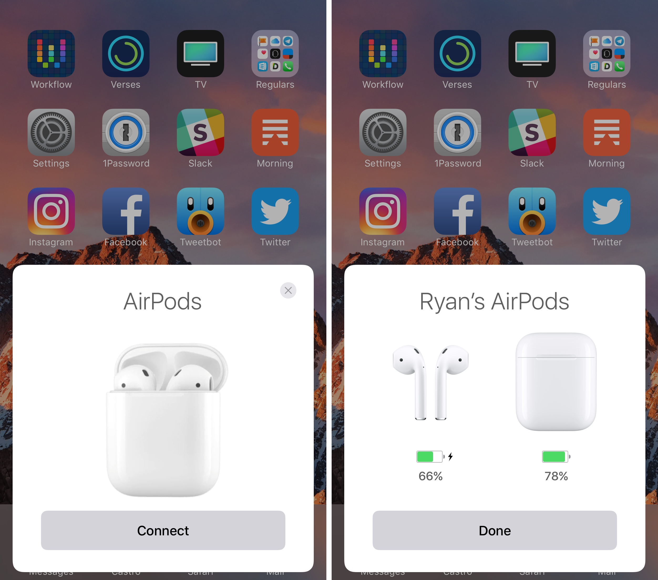 Pairing AirPods is dead simple.