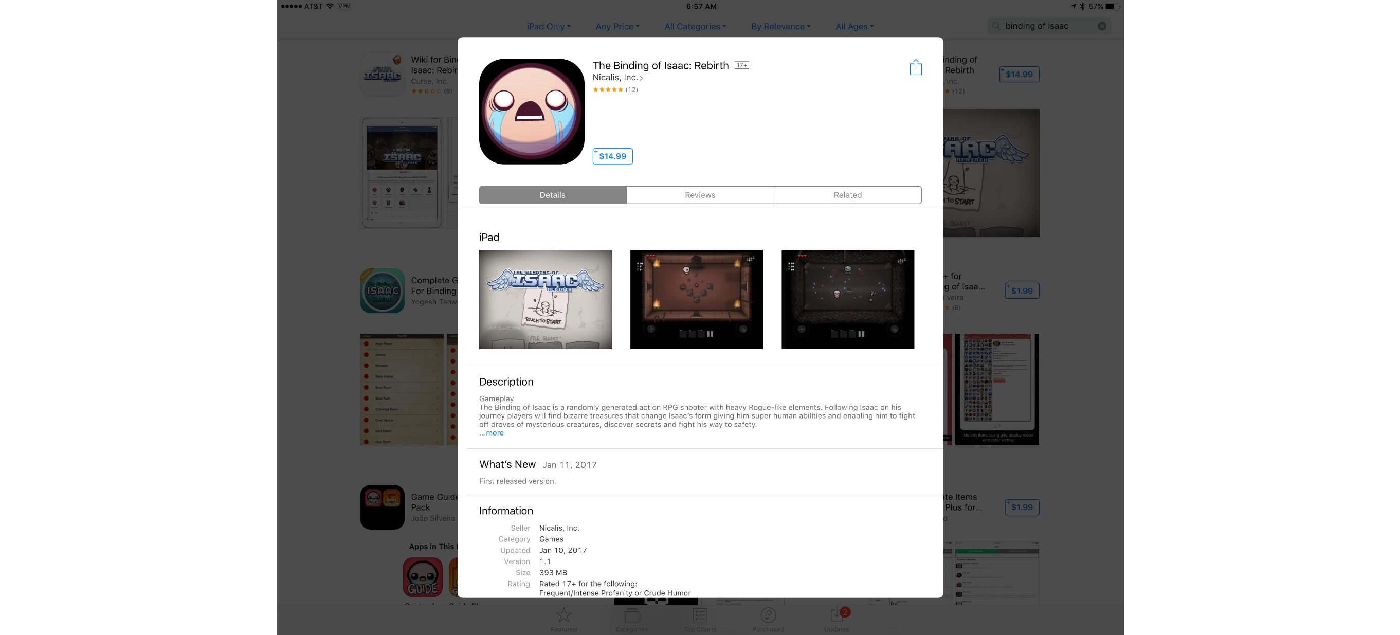 photo image The Binding of Isaac: Rebirth Released on iOS