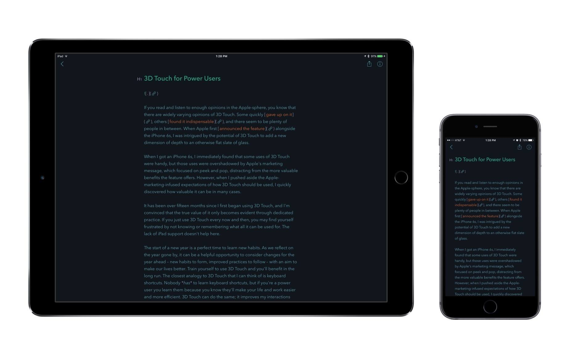 Bear launched as a universal app on iPhone, iPad, and Mac.