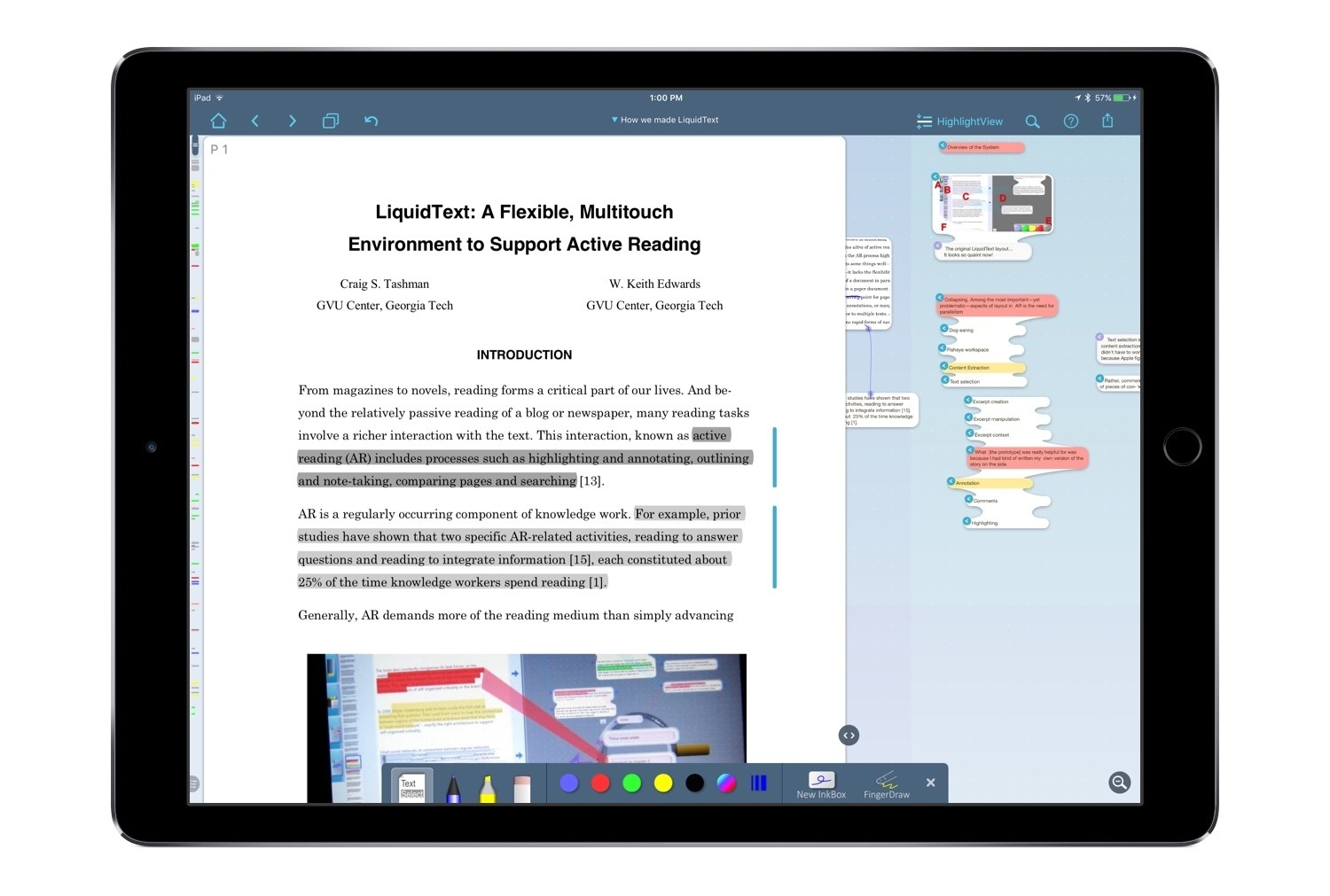 photo image LiquidText 3.0: A Uniquely Digital PDF Experience