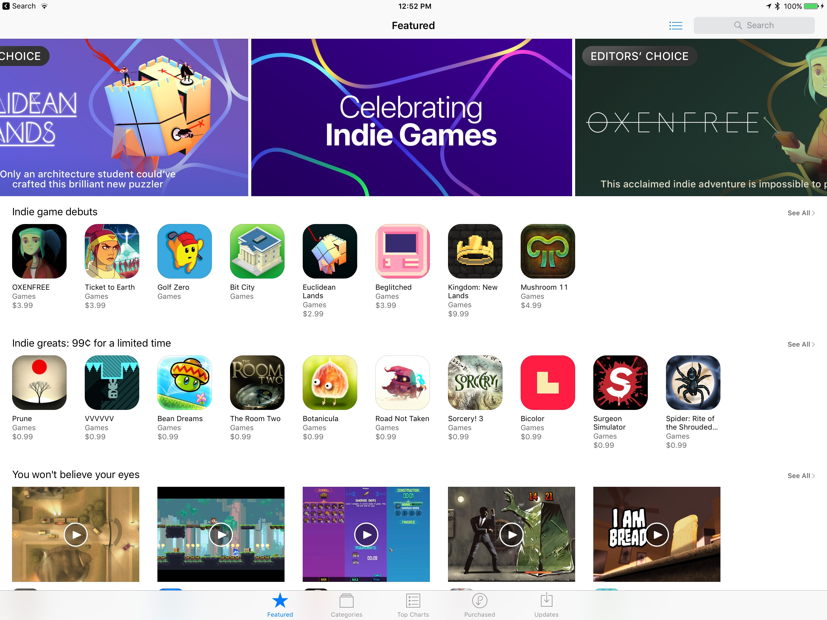 Apple shines the spotlight on indie games in the App Store