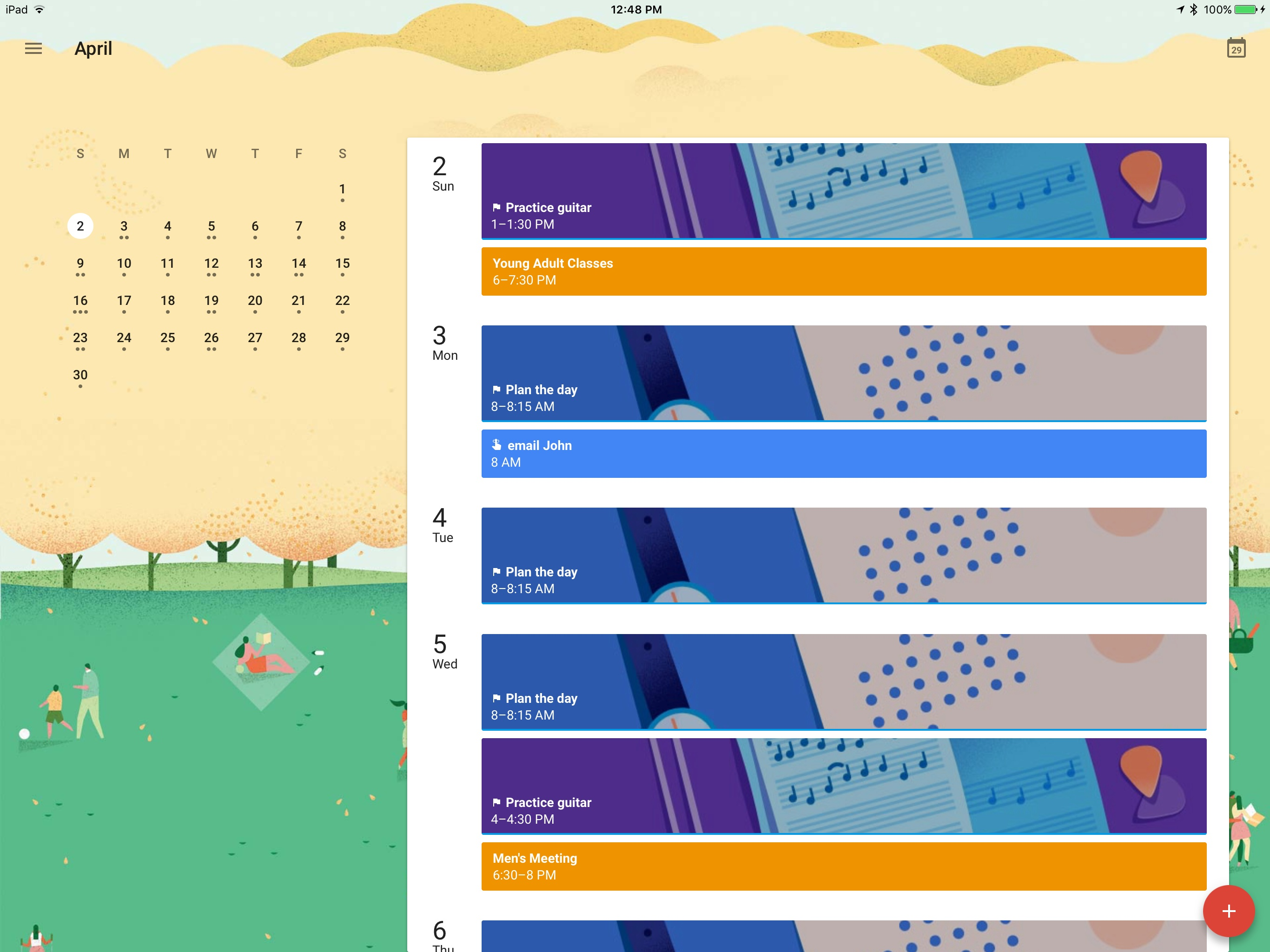 Calendar Wallpaper Automatic Update : Google calendar arrives on ipad macstories