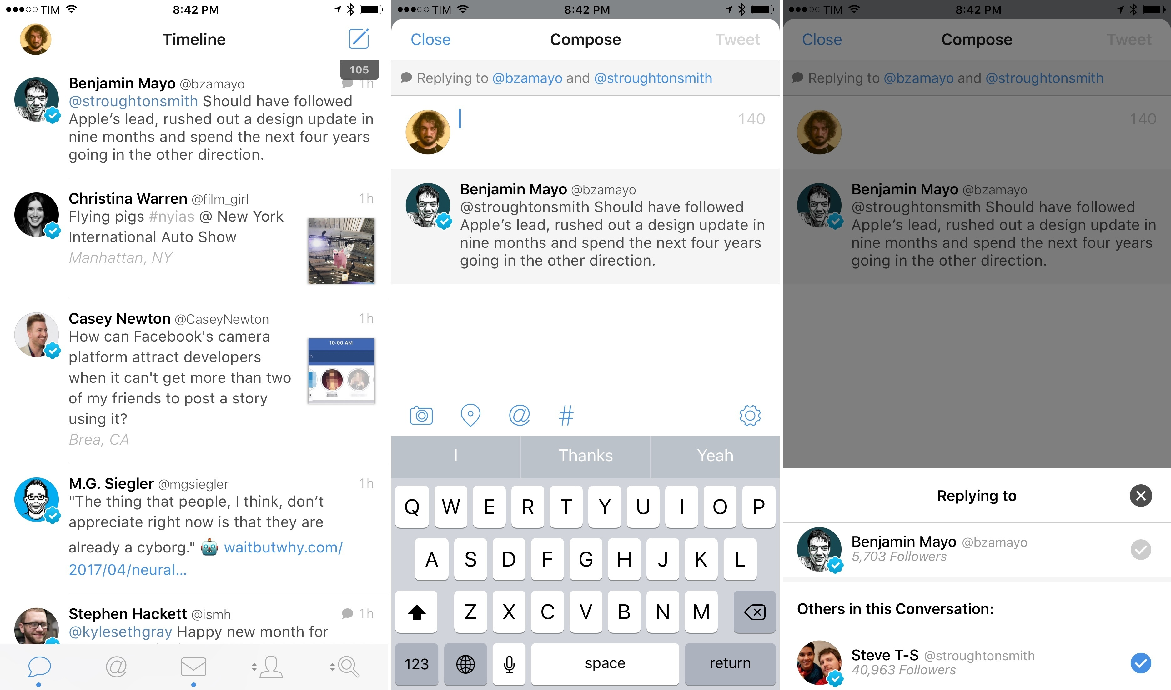 The new compose UI for replies in Tweetbot 4.6.