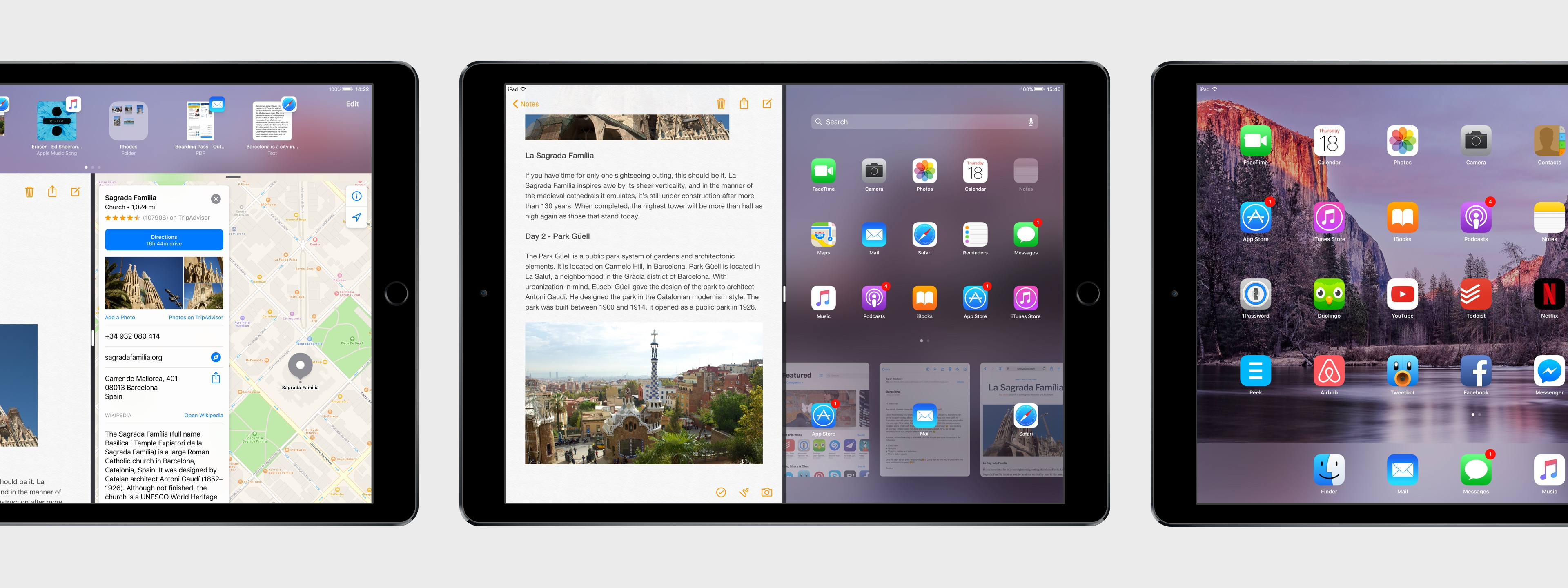 iOS 11 for iPad concept.
