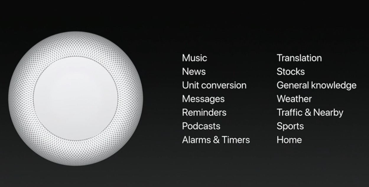 Look out Alexa: Apple announces 'HomePod,' a smart home audio speaker