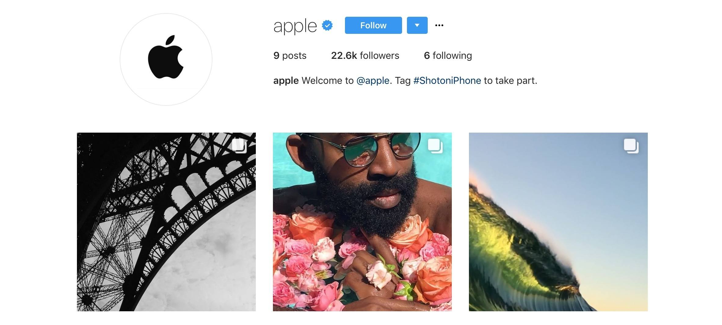 Apple Joins Instagram, Highlights Photos Shot on iPhone