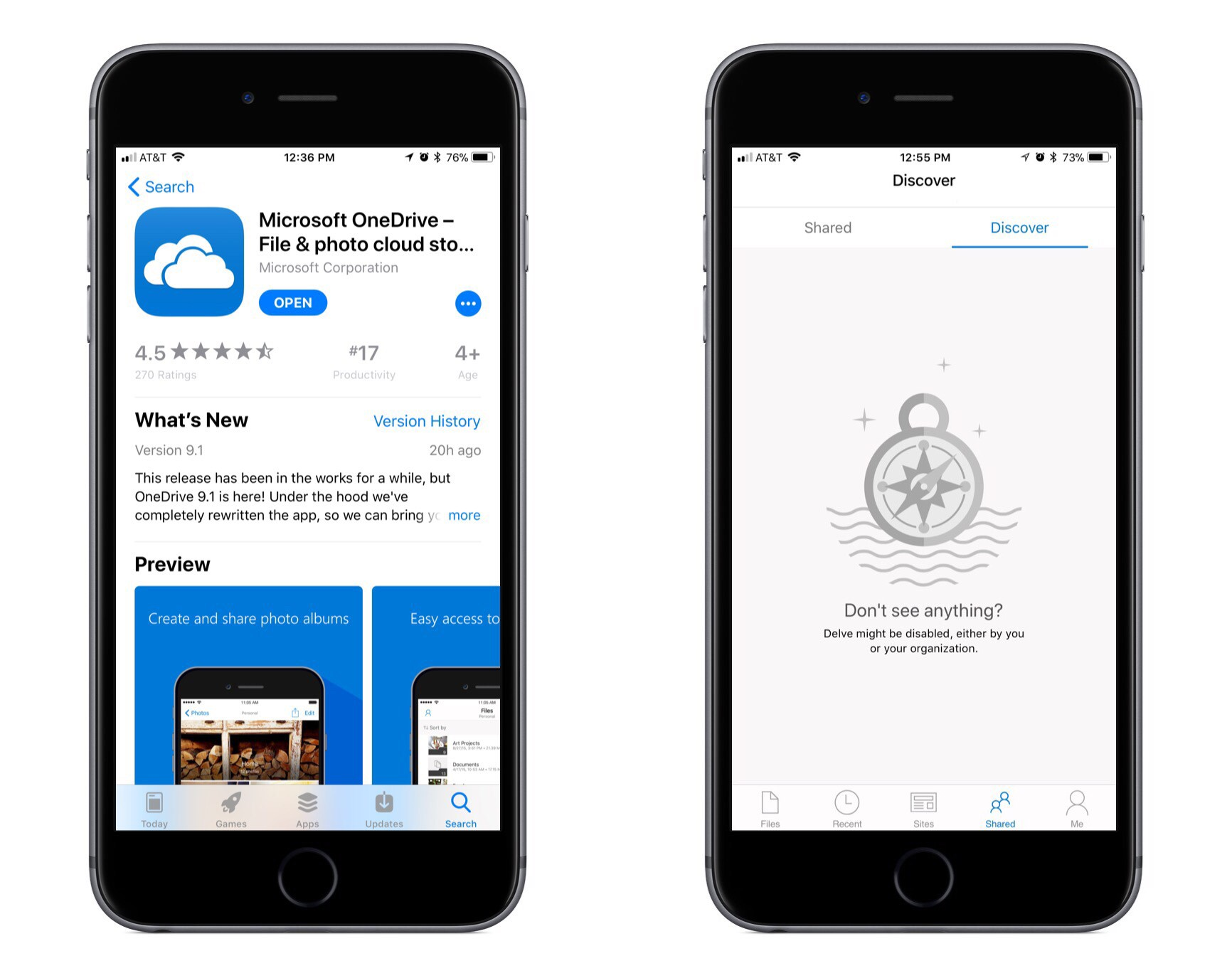 foto da onedrive su iphone
