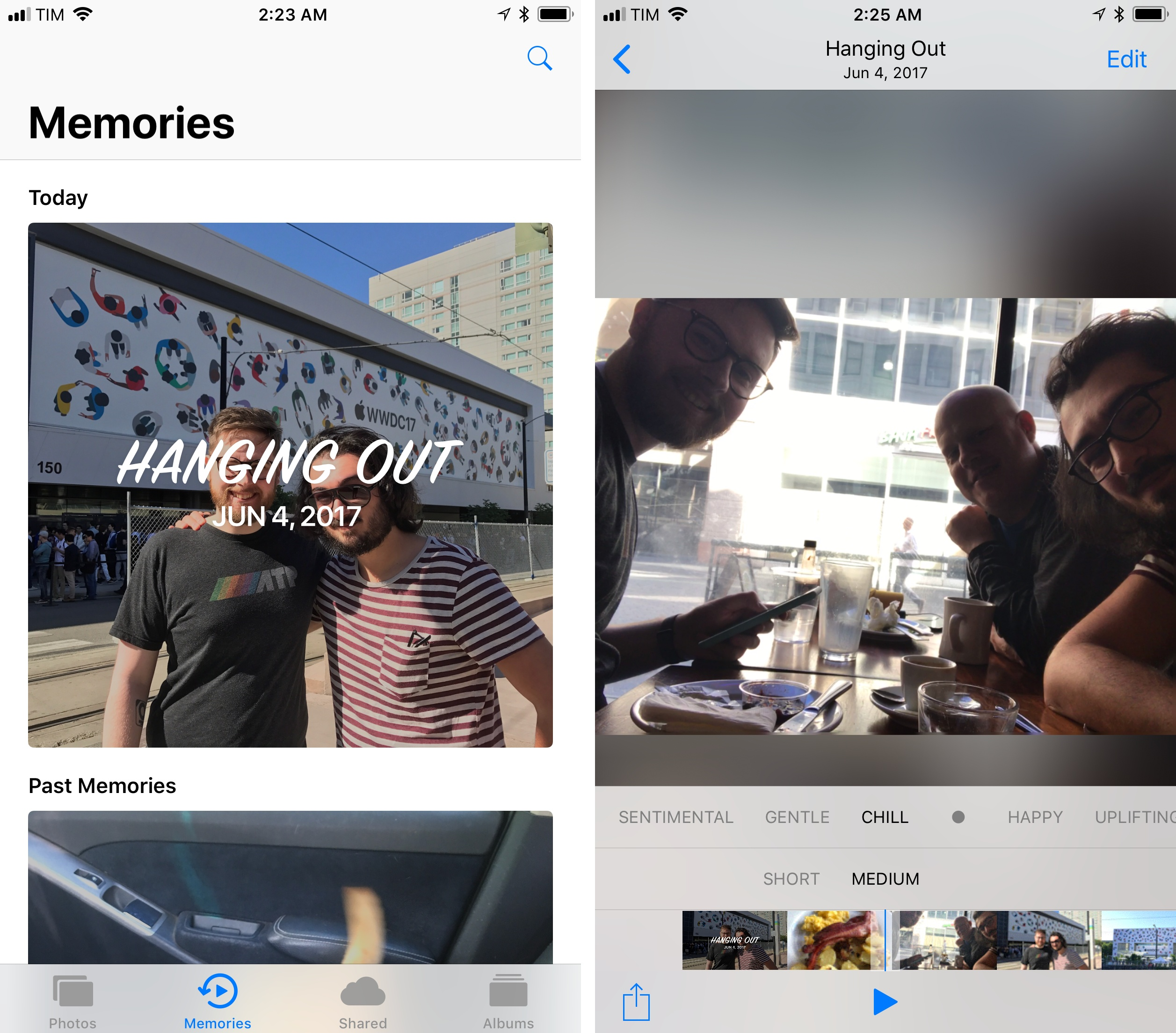 Memory Movies are now optimized for portrait mode.