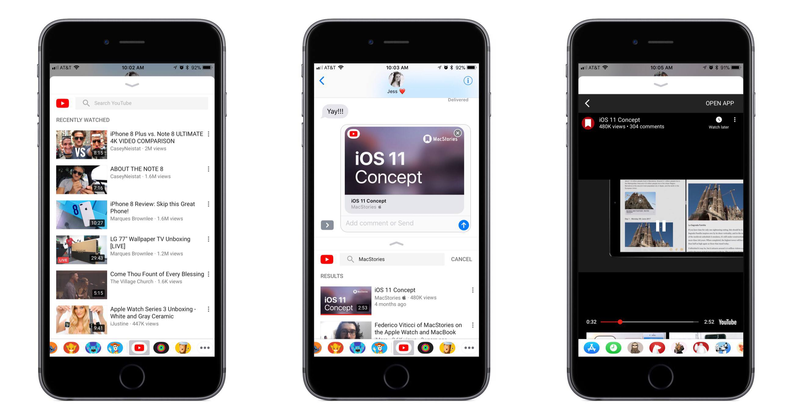 YouTube on iOS Adds Support for Sharing Videos to iMessage