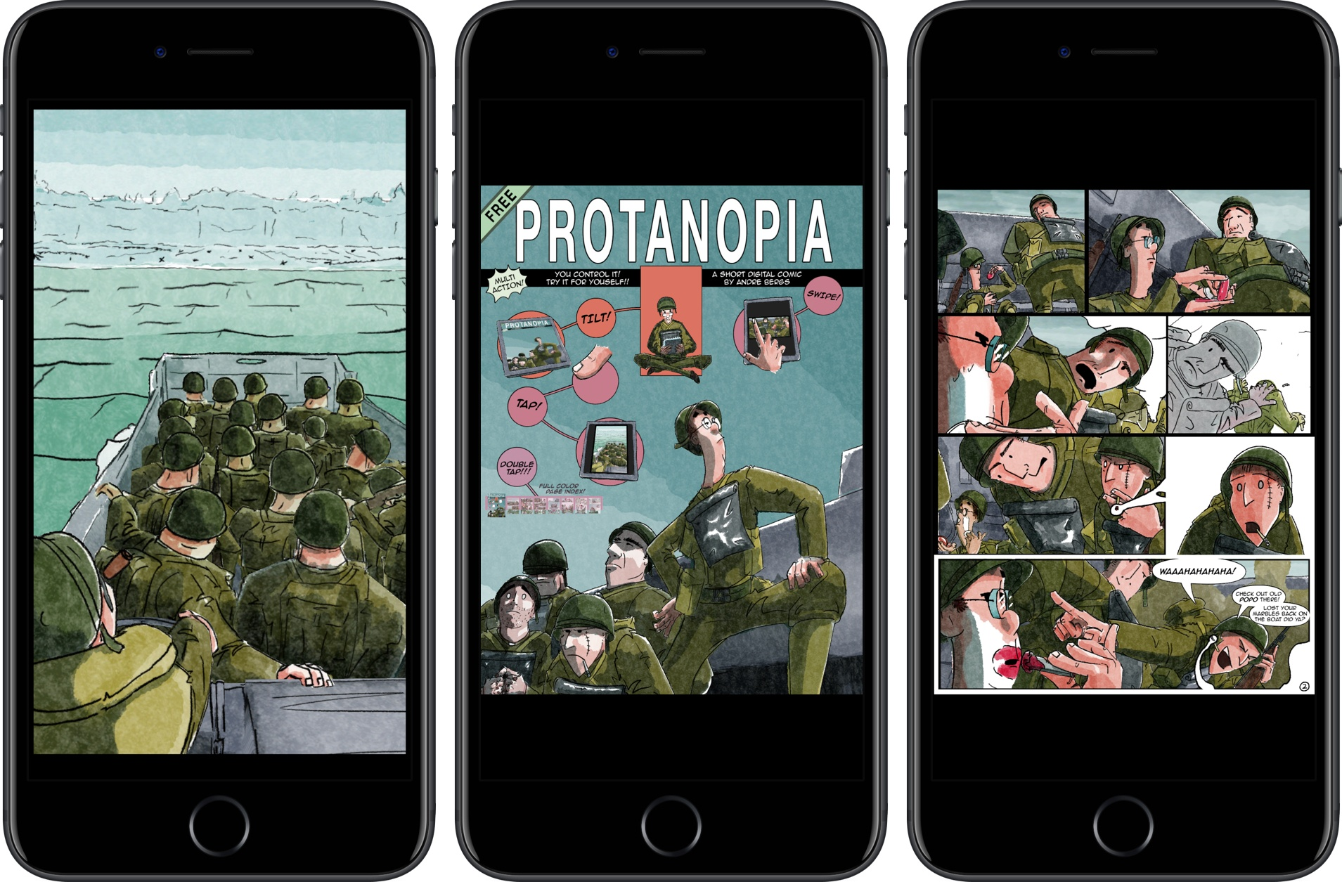 photo image Comic Protanopia Comes to Life with Game-Like Tilt Controls