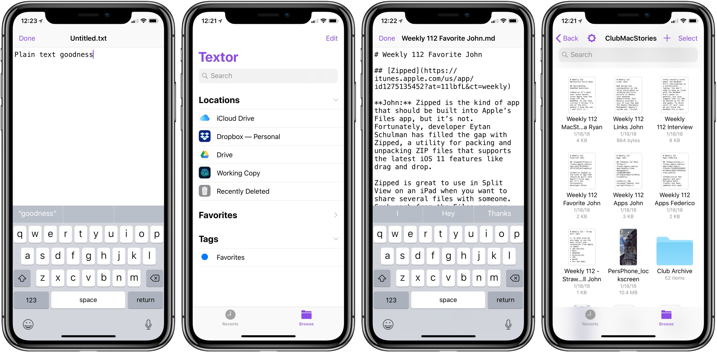 Textor: The iOS Equivalent of TextEdit, Integrated with