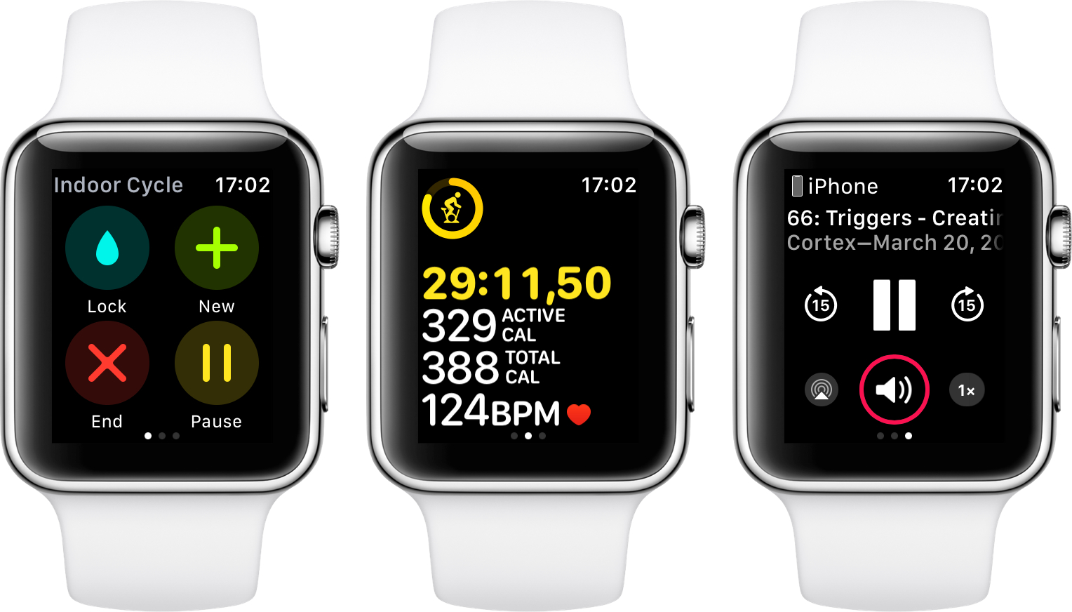Apple's Workout app in watchOS 4.