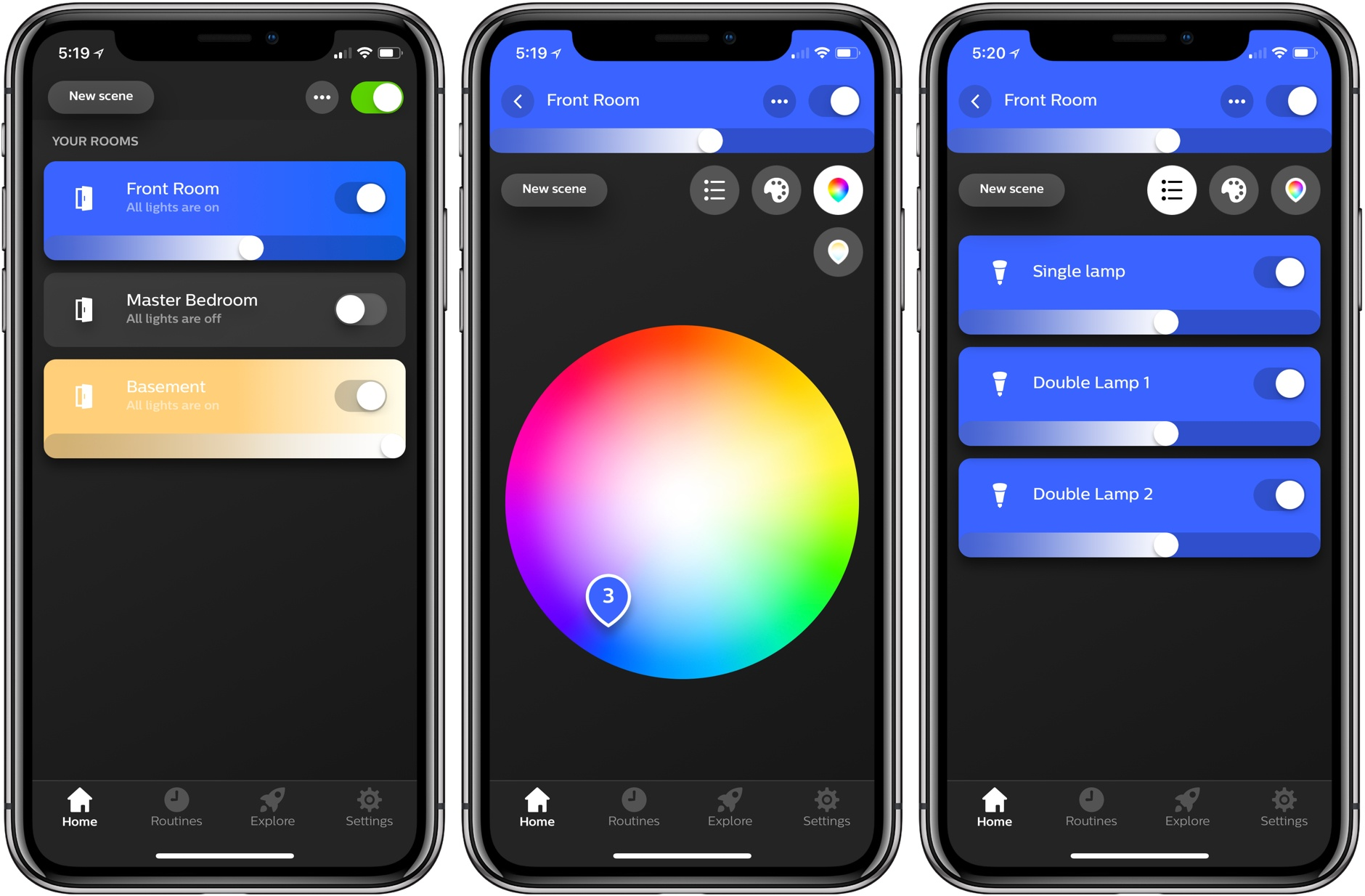 philips hue app update enhances light management and adds 30 new designer scenes macstories. Black Bedroom Furniture Sets. Home Design Ideas