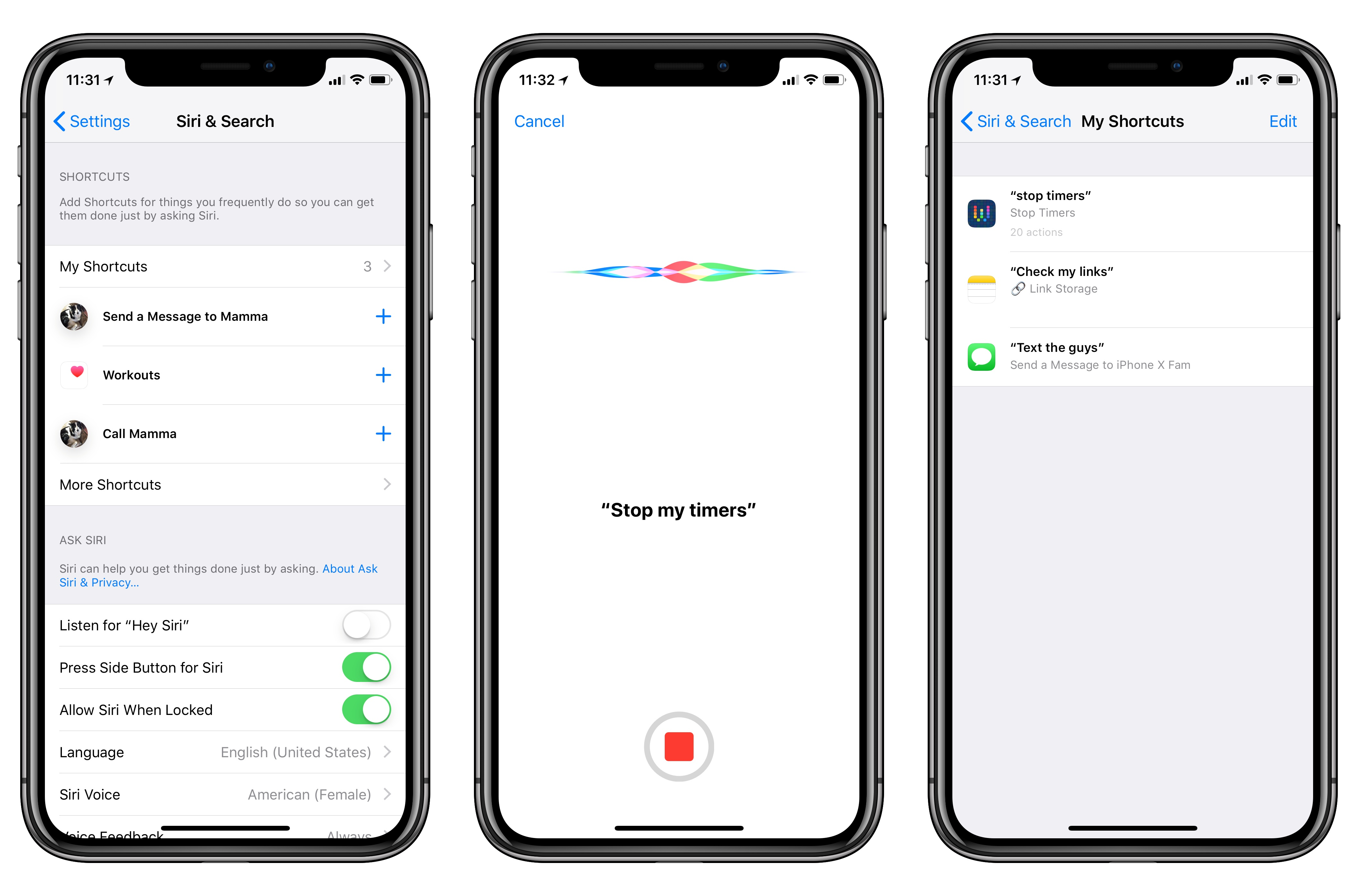 Adding shortcut phrases in iOS 12.