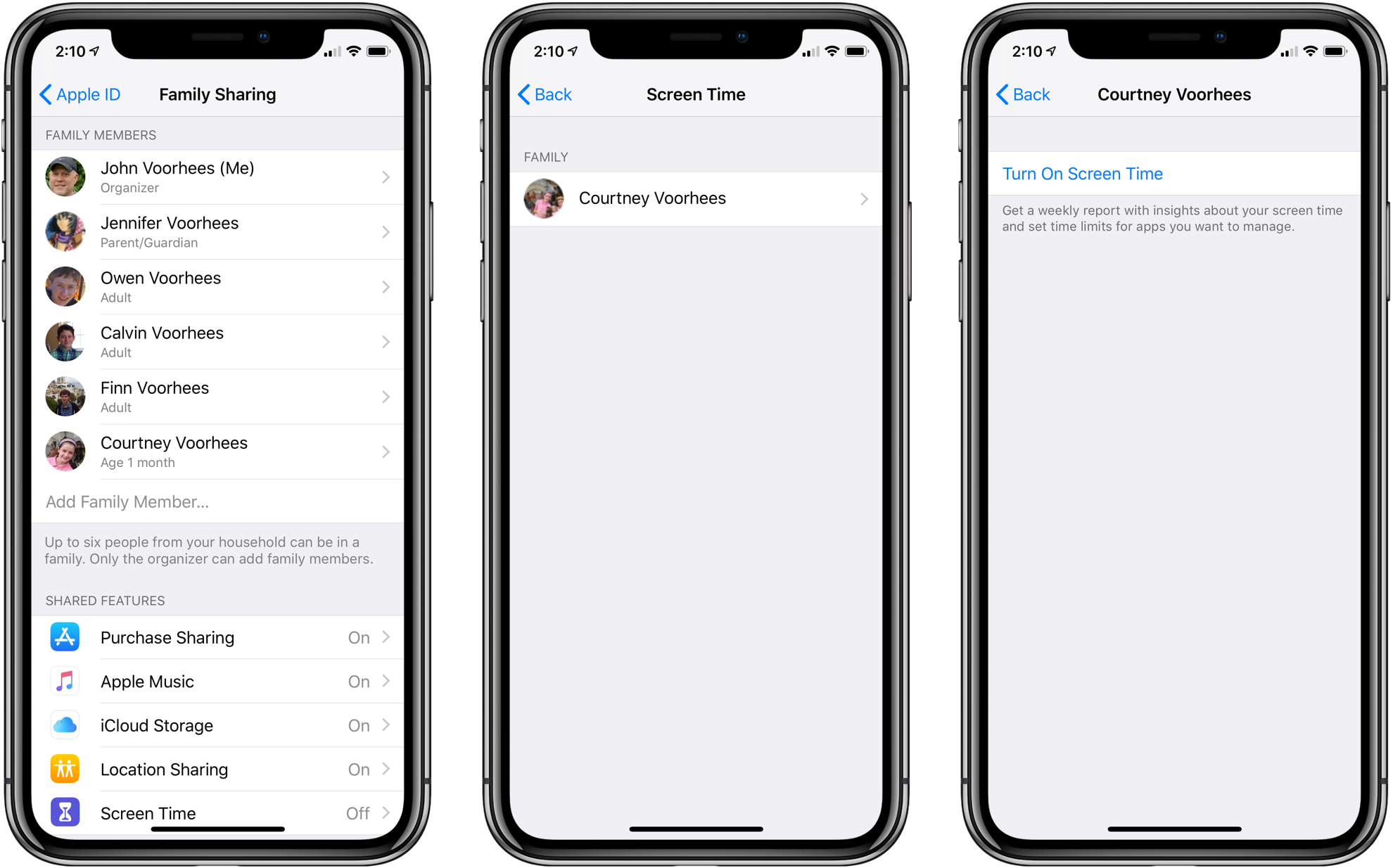 How to connect apple music through family sharing