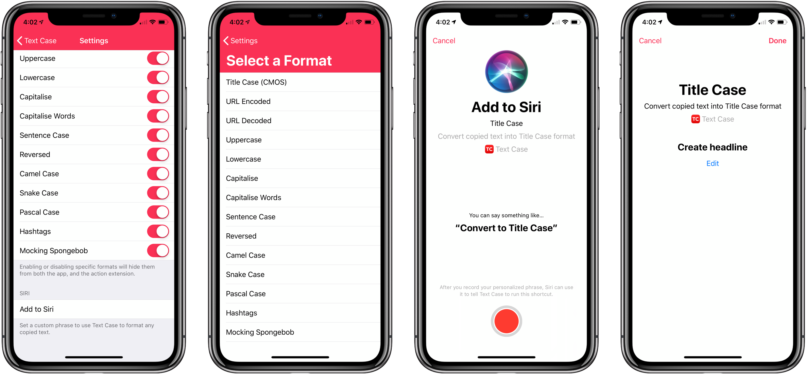 Text Case Adds Siri Shortcut Support for Text Transformations