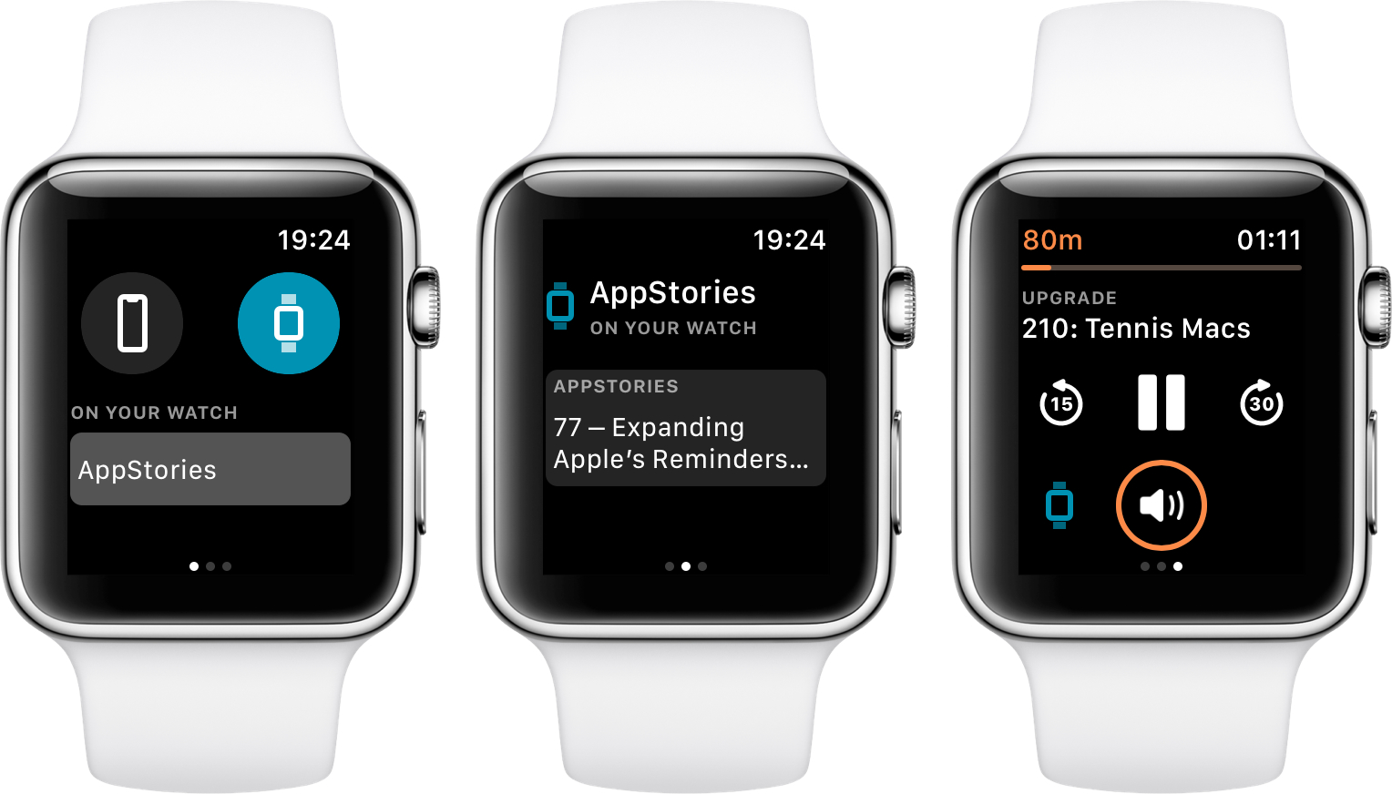The new Overcast Watch app.