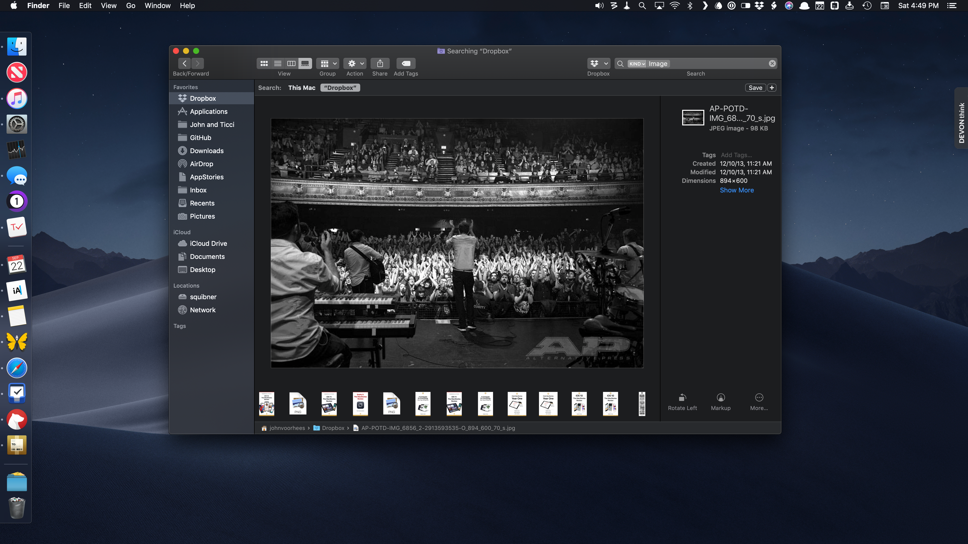 High-resolution Gallery previews make it possible to spot yourself in a crowd.