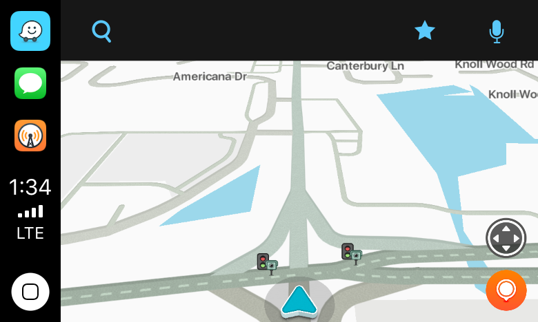 Waze immediately identified nearby stoplight cameras.