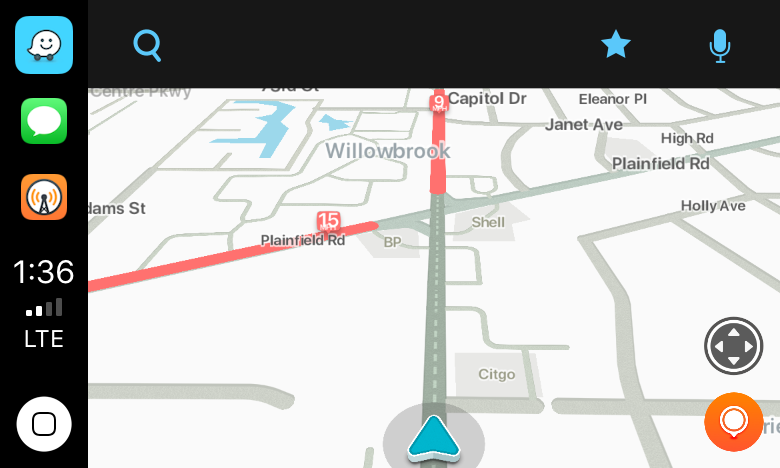 Waze alerted me to local road work.