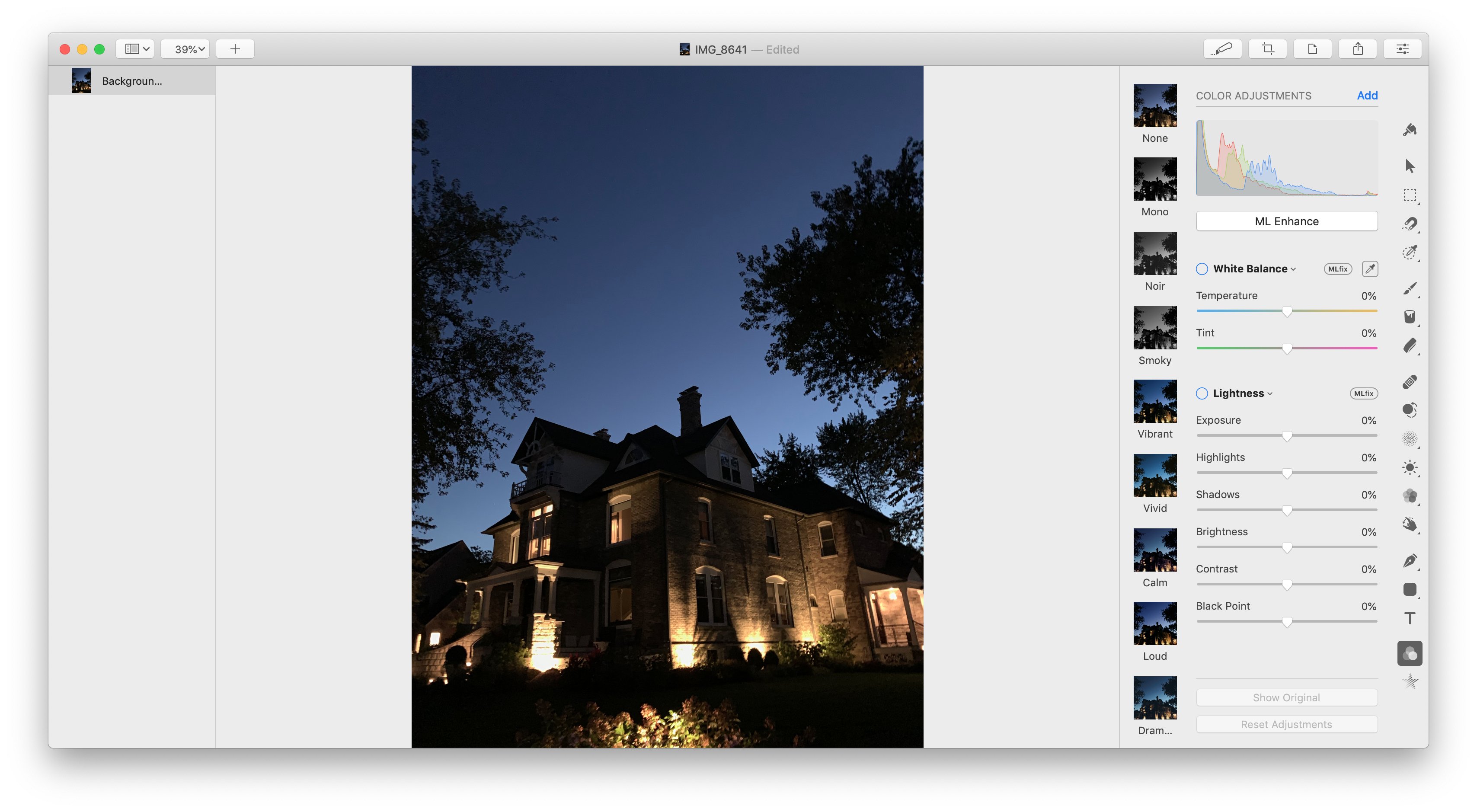 Pixelmator Pro's new light mode.