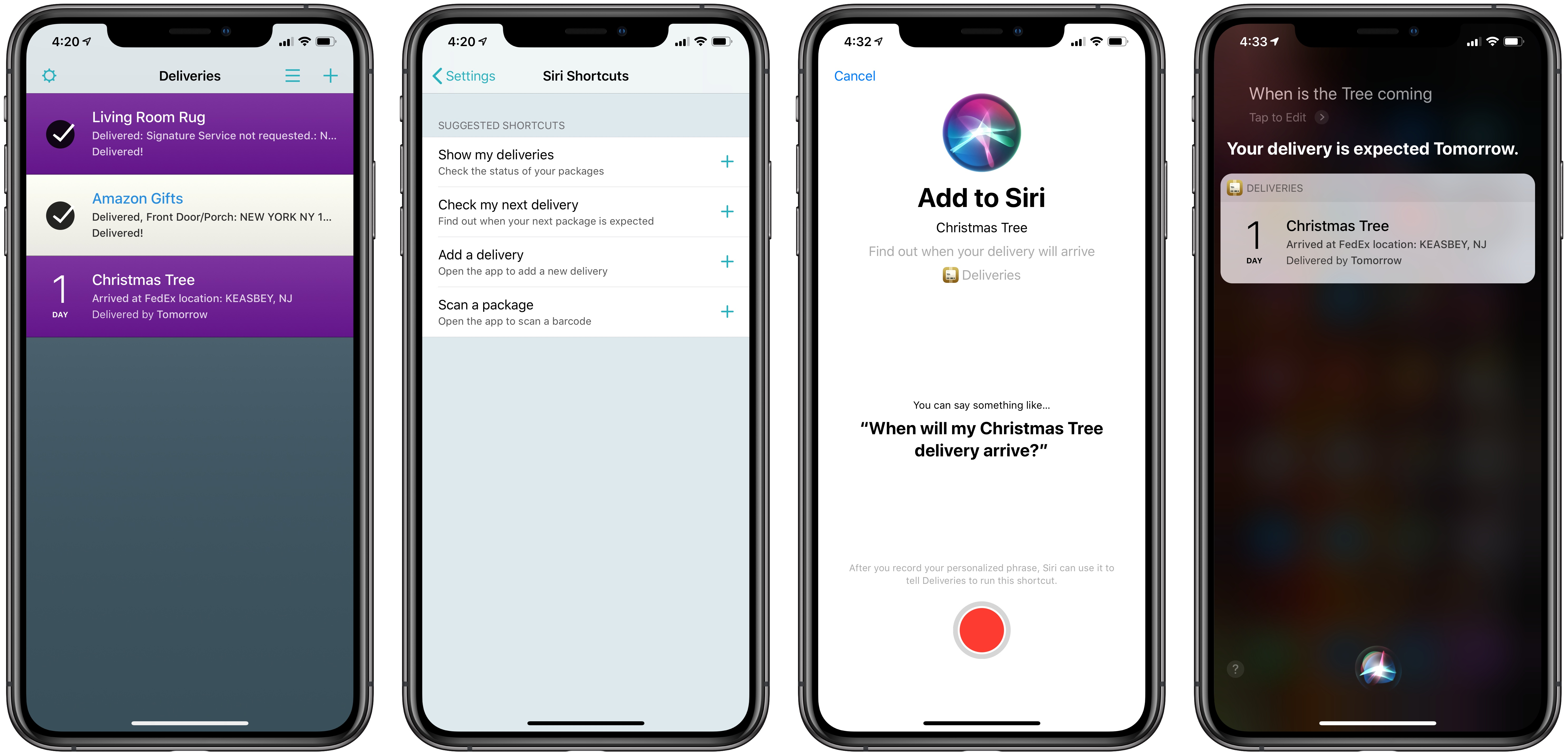 Deliveries, the Package Tracker App, Introduces Siri