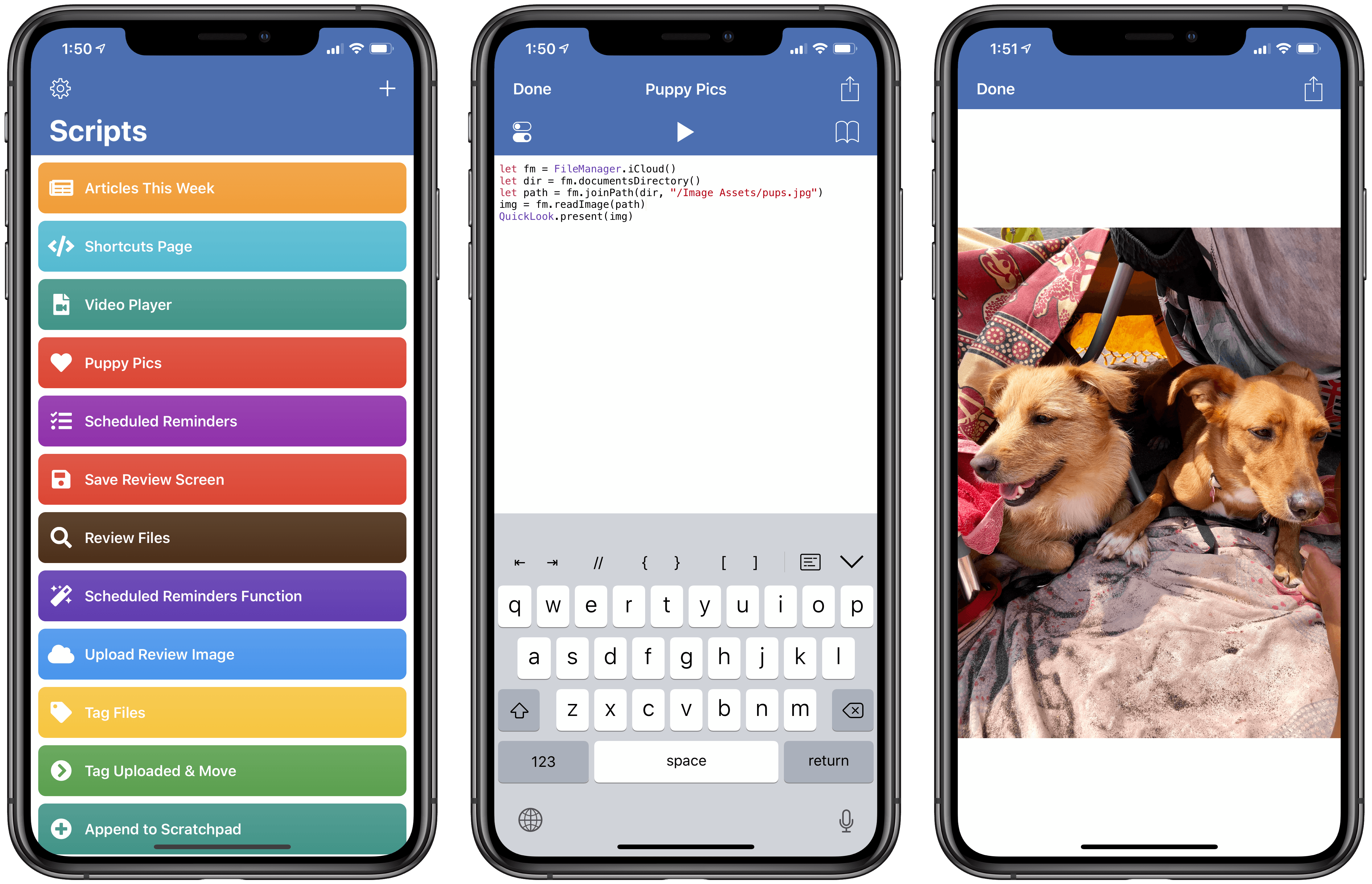 Who wouldn't want to load cute dog pictures with JavaScript?