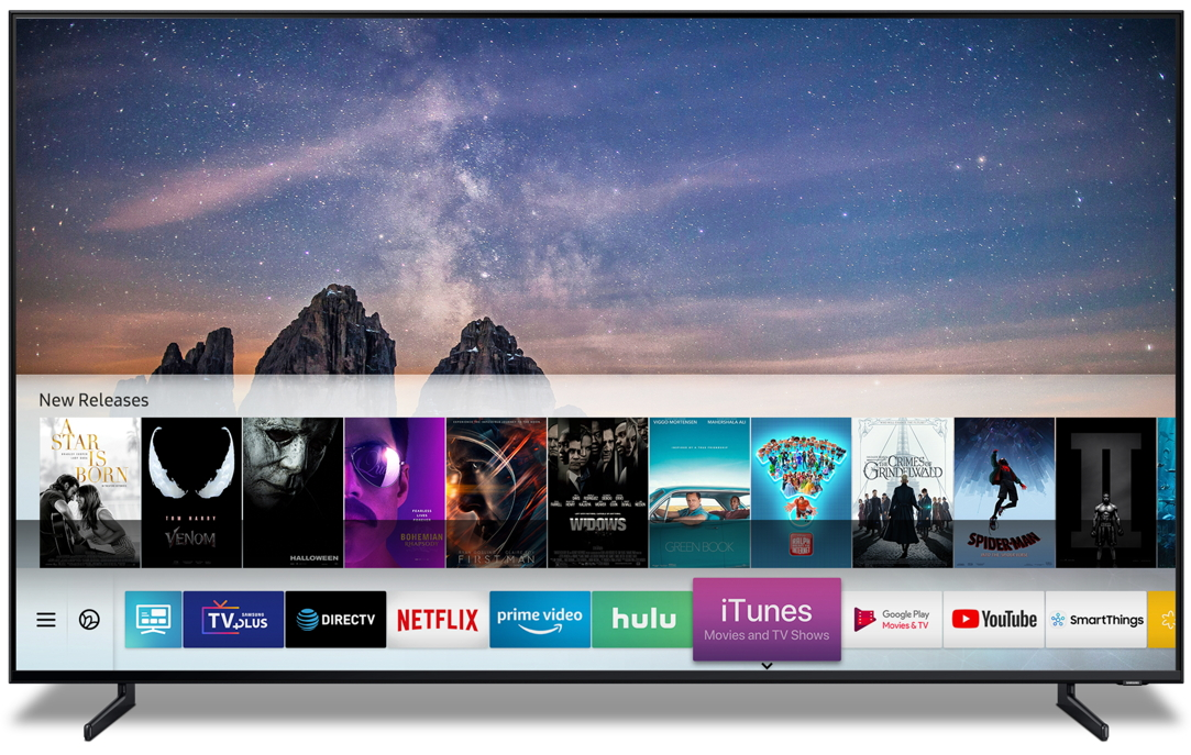 Samsung's 2019 smart TVs are getting Apple's iTunes and AirPlay 2 support