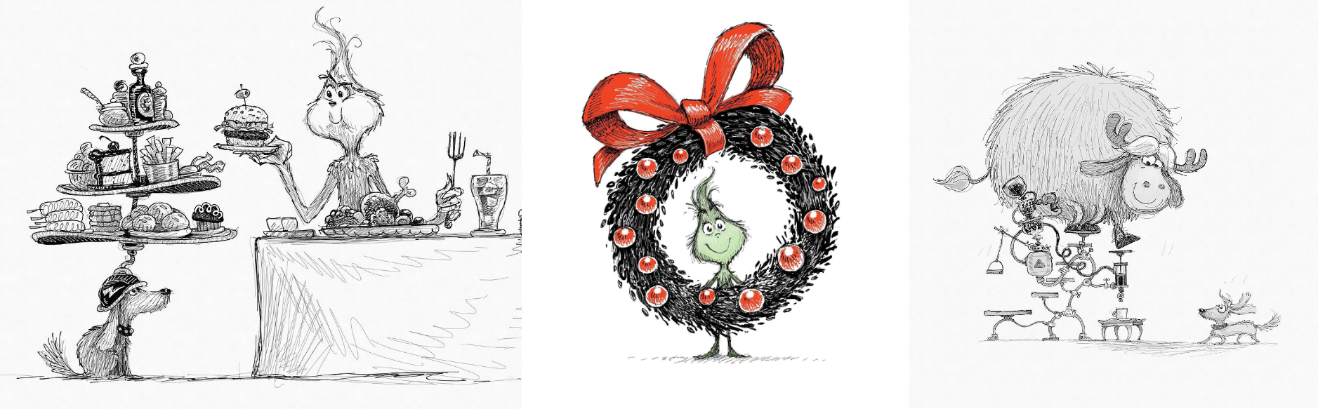 Concept art from The Grinch posted by Yarrow Cheney (instagram.com/yarrowcheney) on Instagram.