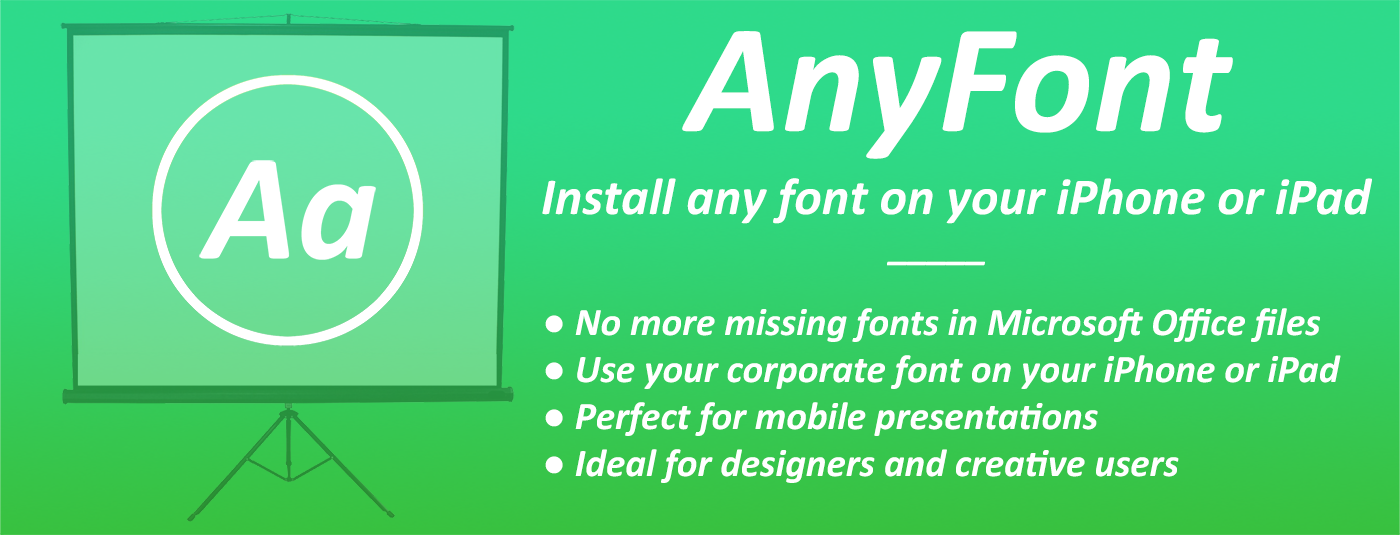 AnyFont: Install Any Font on Your iPhone or iPad [Sponsor]