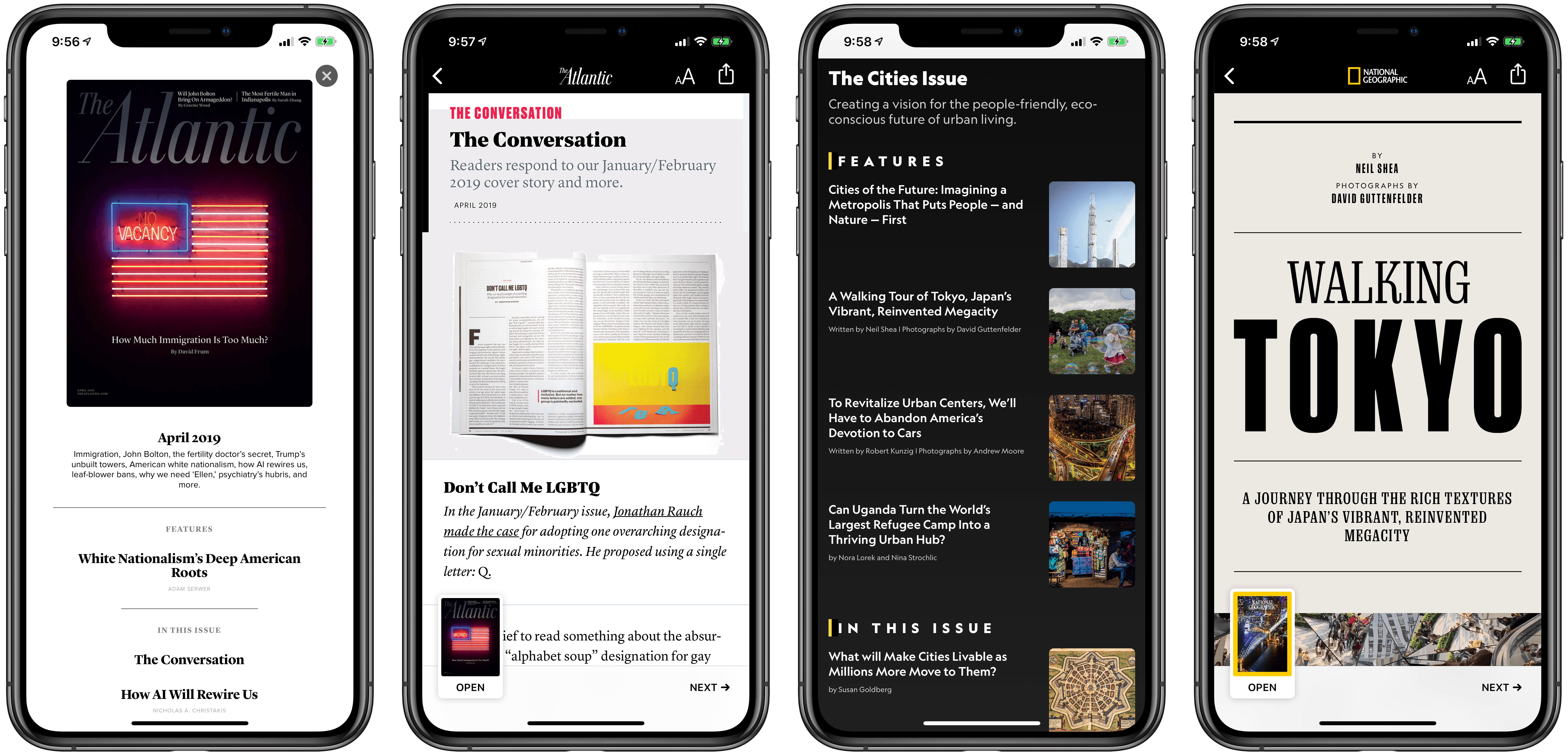 Magazines, built using Apple News Format, in Apple News+.