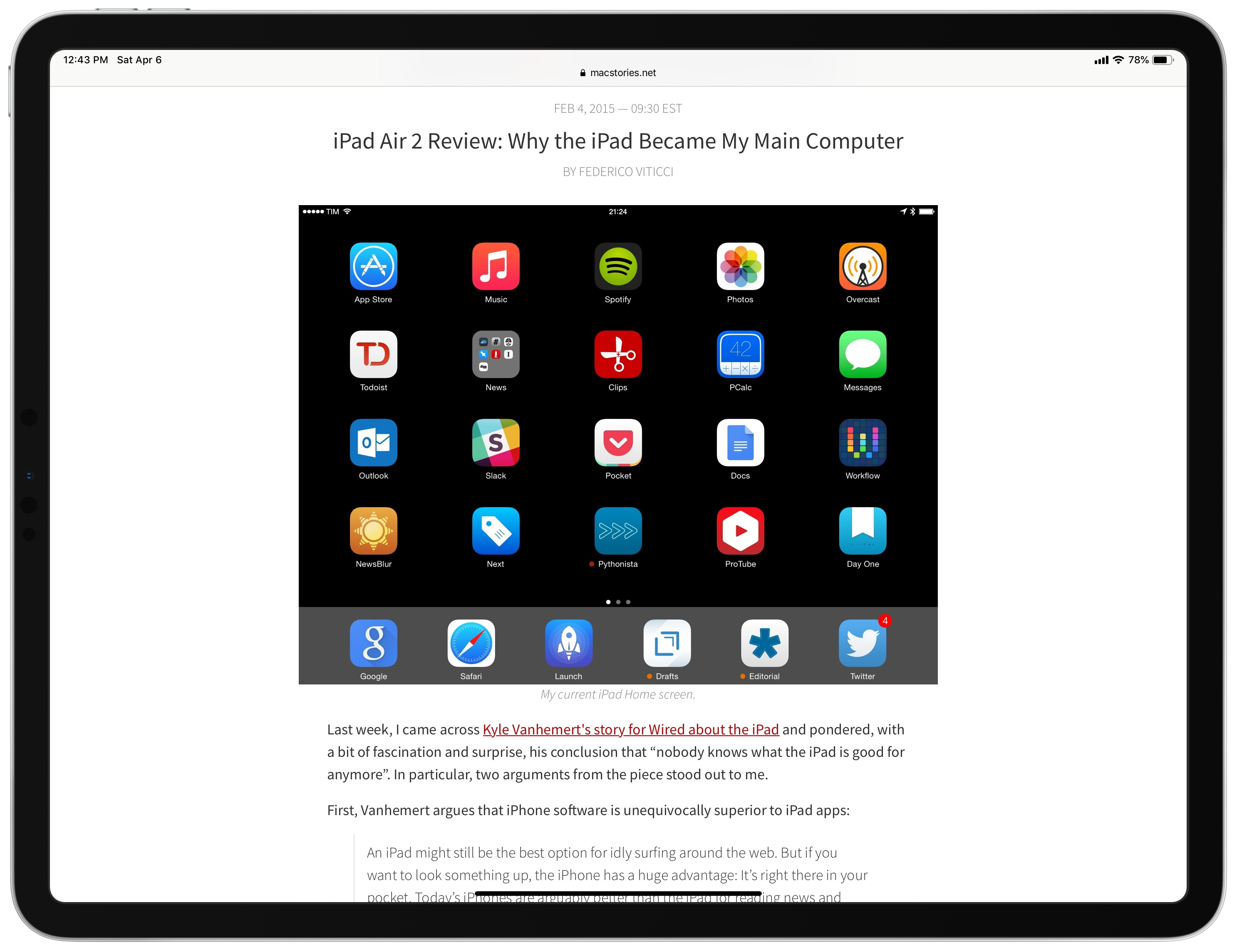 How MacStories Instigated My iPad-First Journey