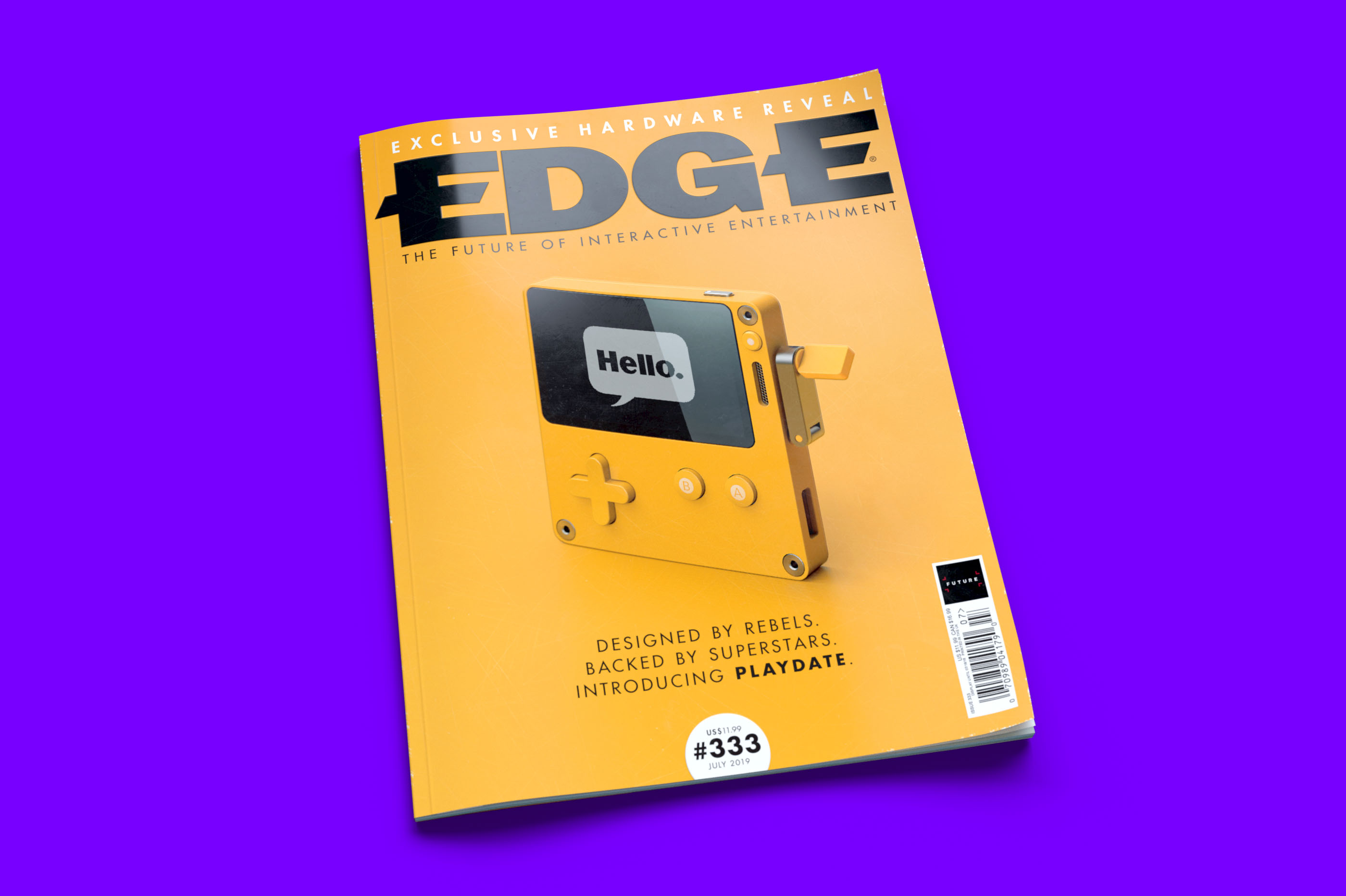Issue 333 of Edge magazine will have more details about Playdate, including interviews with its creators.