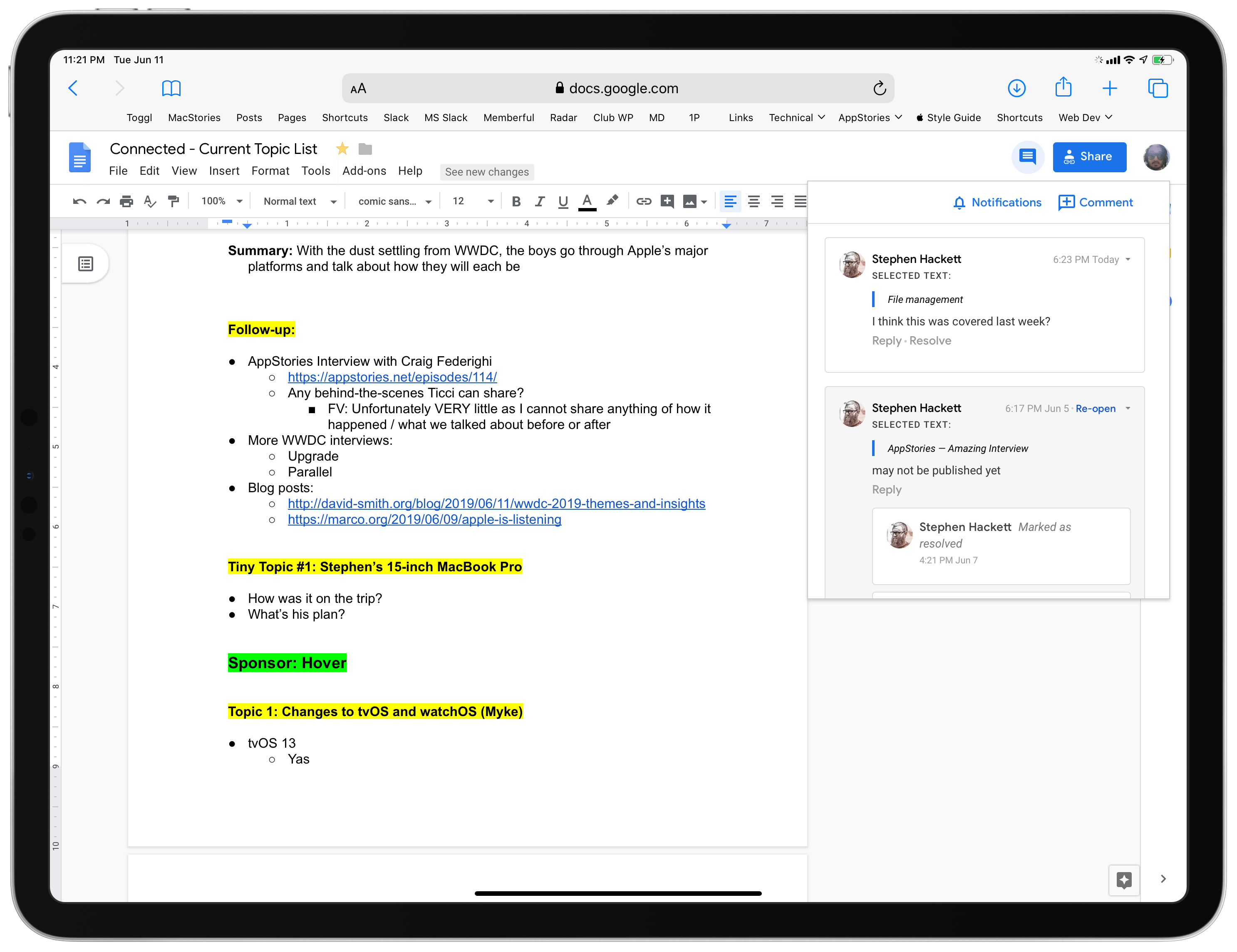 Real Google Docs! On an iPad!